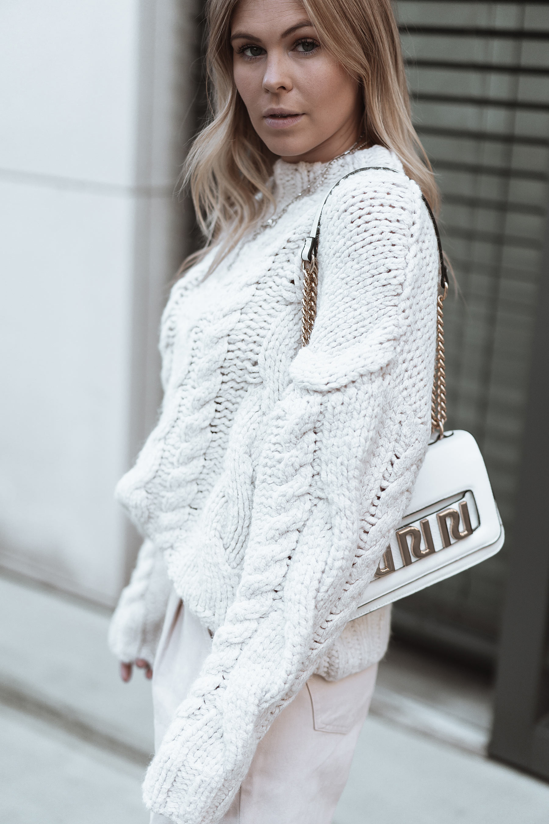 inga brauer cable knit outfit herbst