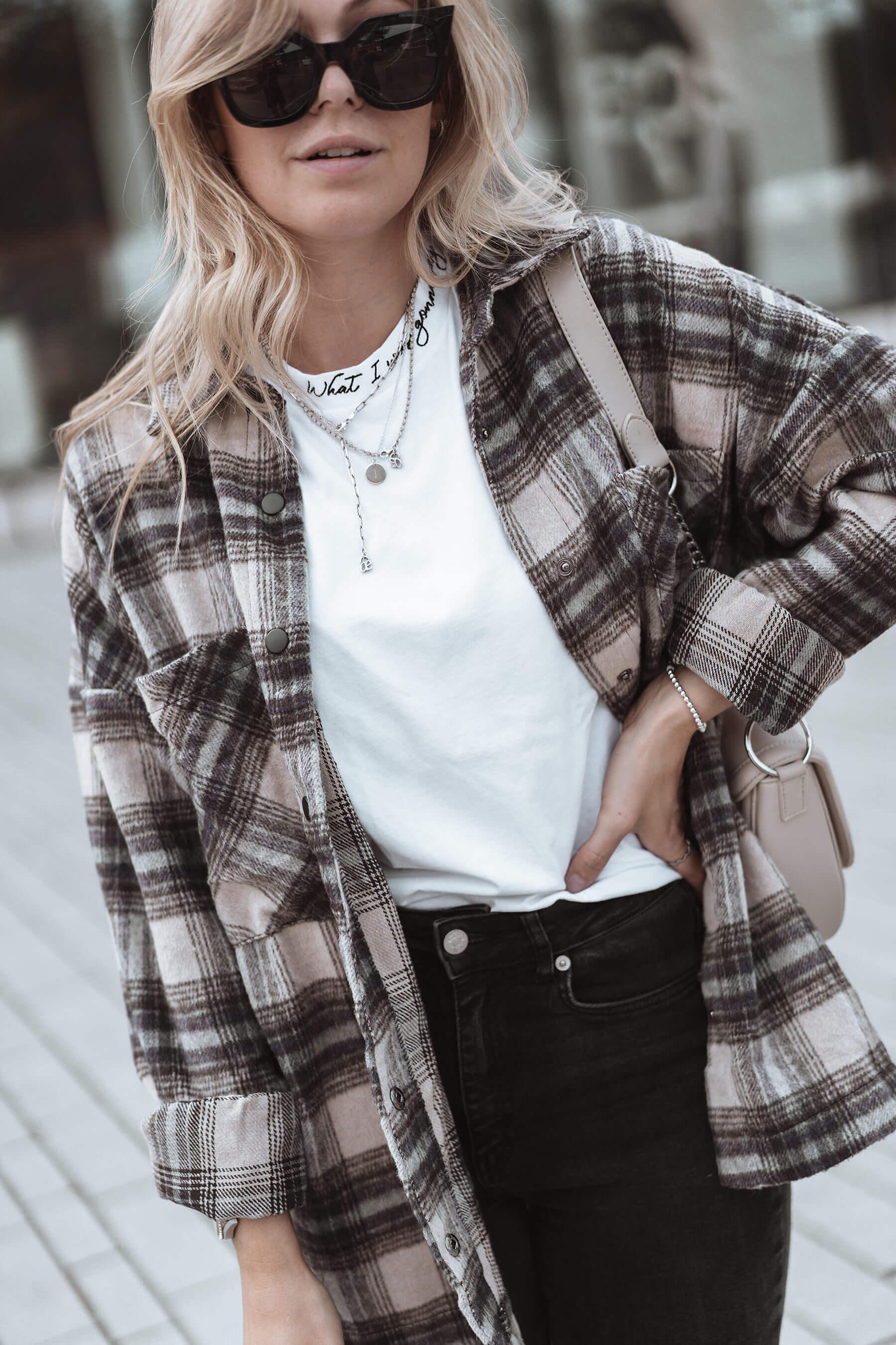 outfit flanellhemd frauen herbst trend blogger sunnyinga