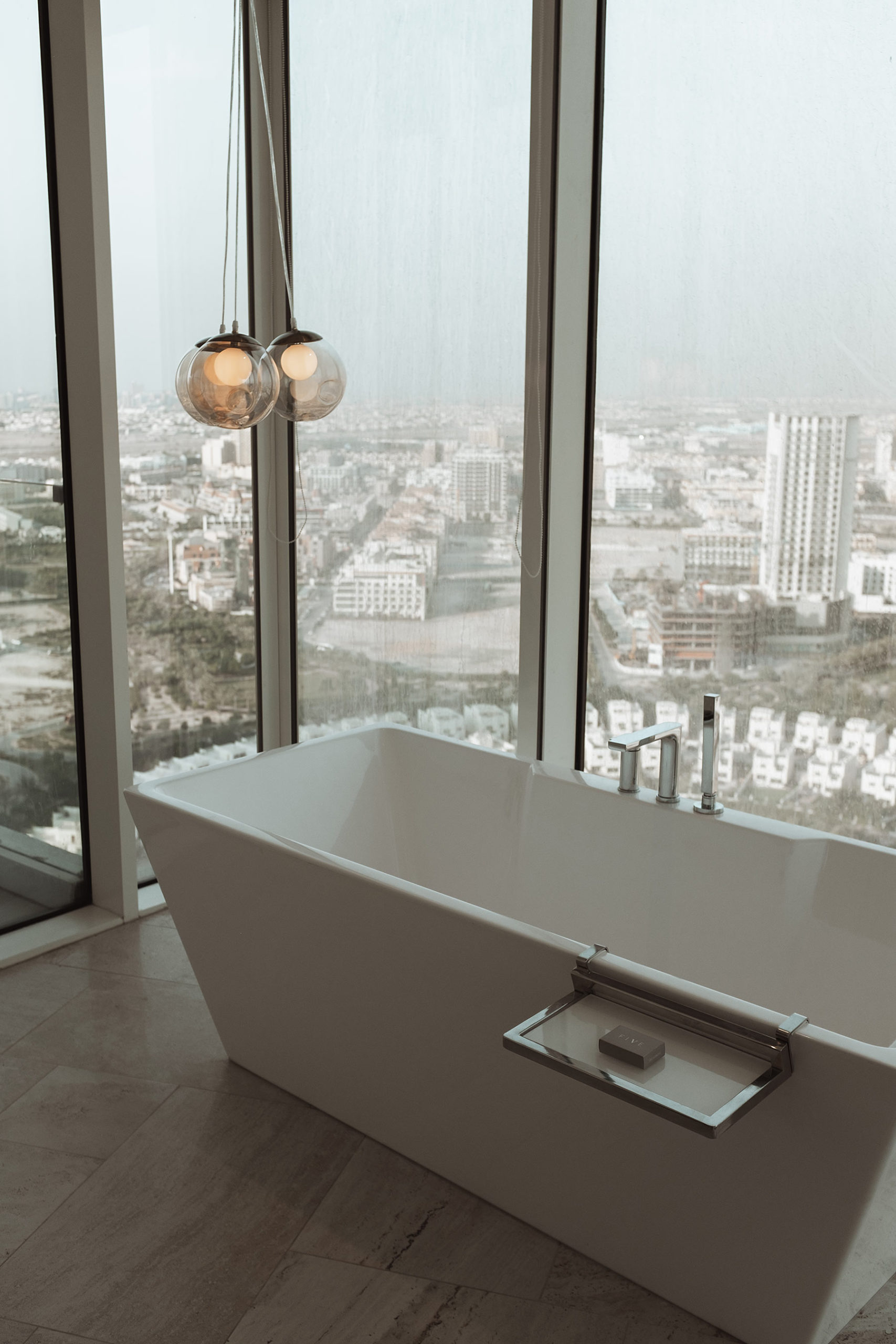 bathroom five jumeirah village hotel dubai sunnyinga