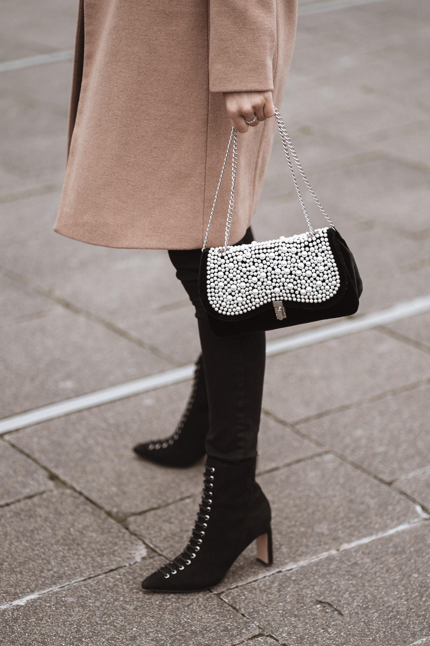 handtasche mit perlen zara outfit fashion blogger sunnyinga