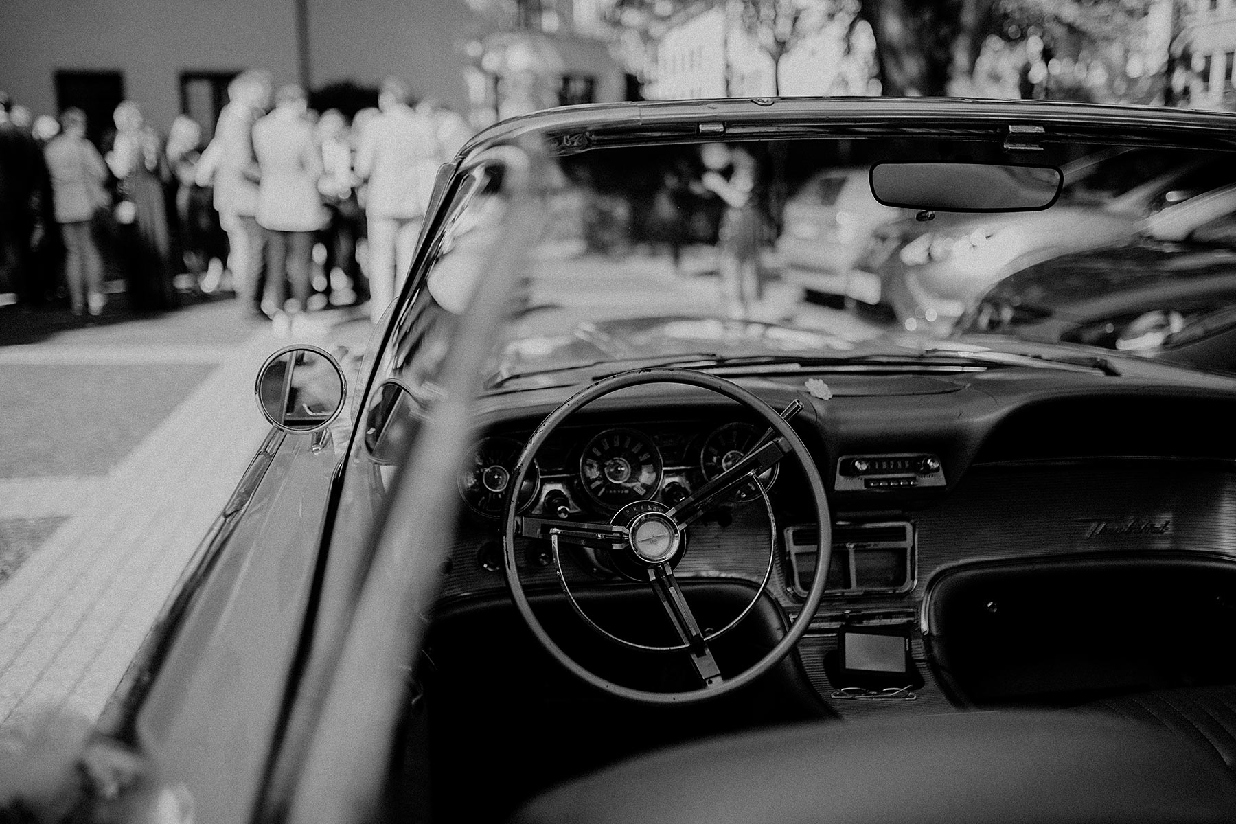 hochzeitsauto ford thunderbird cabrio oldtimer sunnyinga