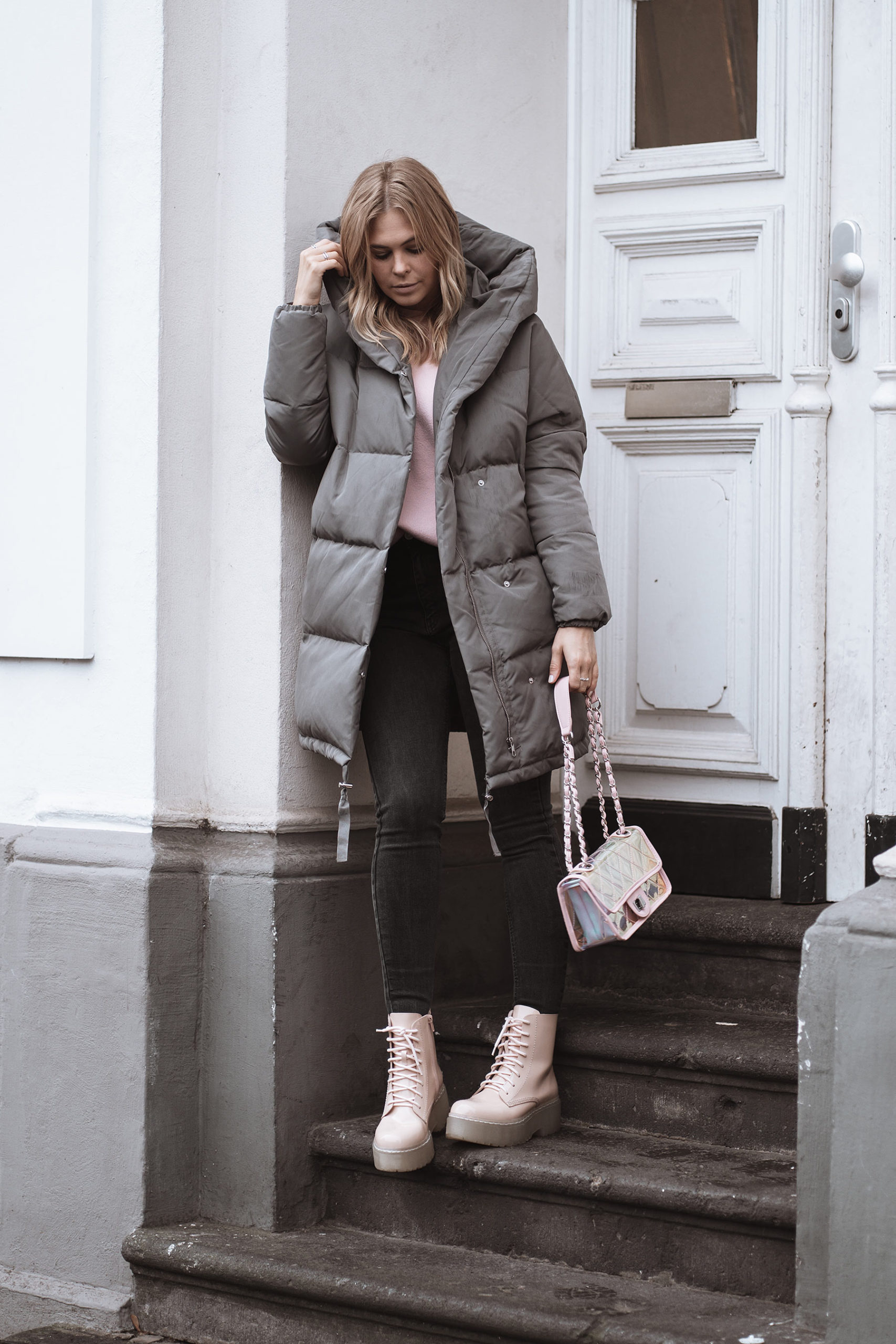 inga brauer fashion blogger oversize daunenmantel outfit