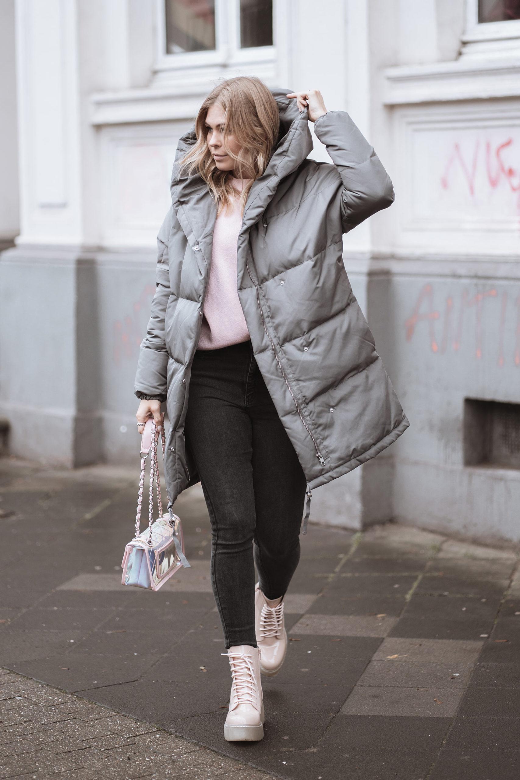 oversize daunenmantel streetstyle outfit fashion blogger düsseldorf