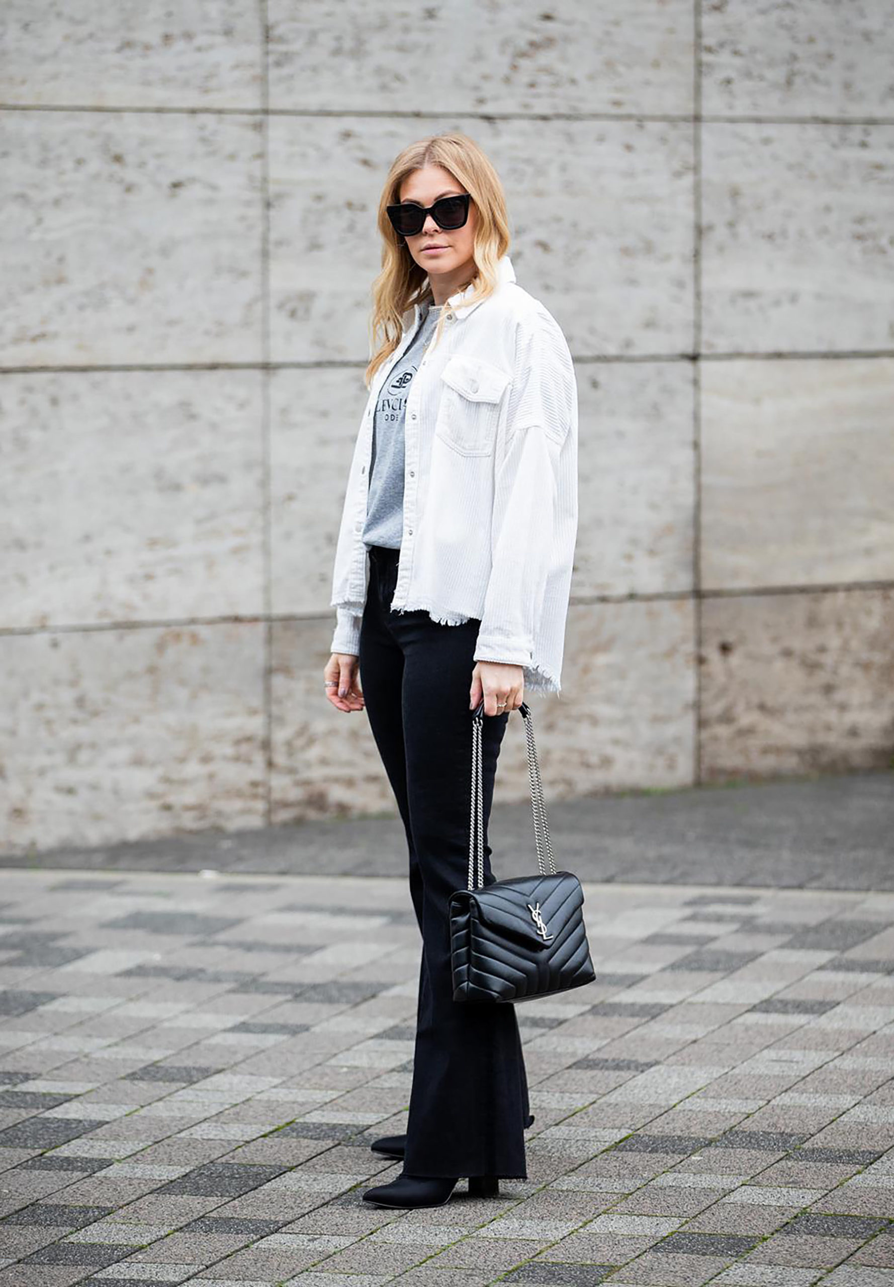 schlaghose cordhemd outfit fashion blogger inga brauer