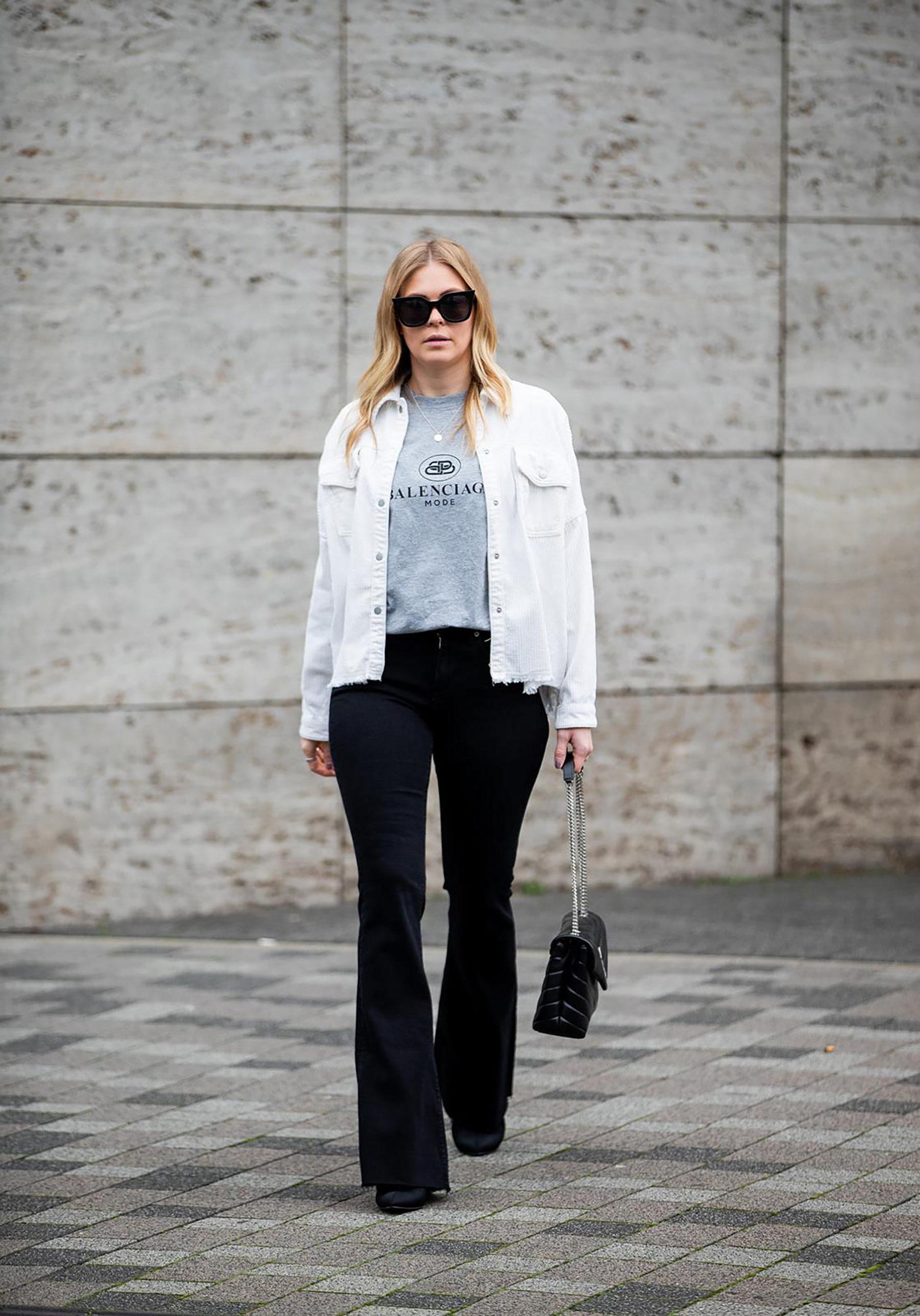 schlaghose schwarz outfit modetrend fashion blog inga brauer