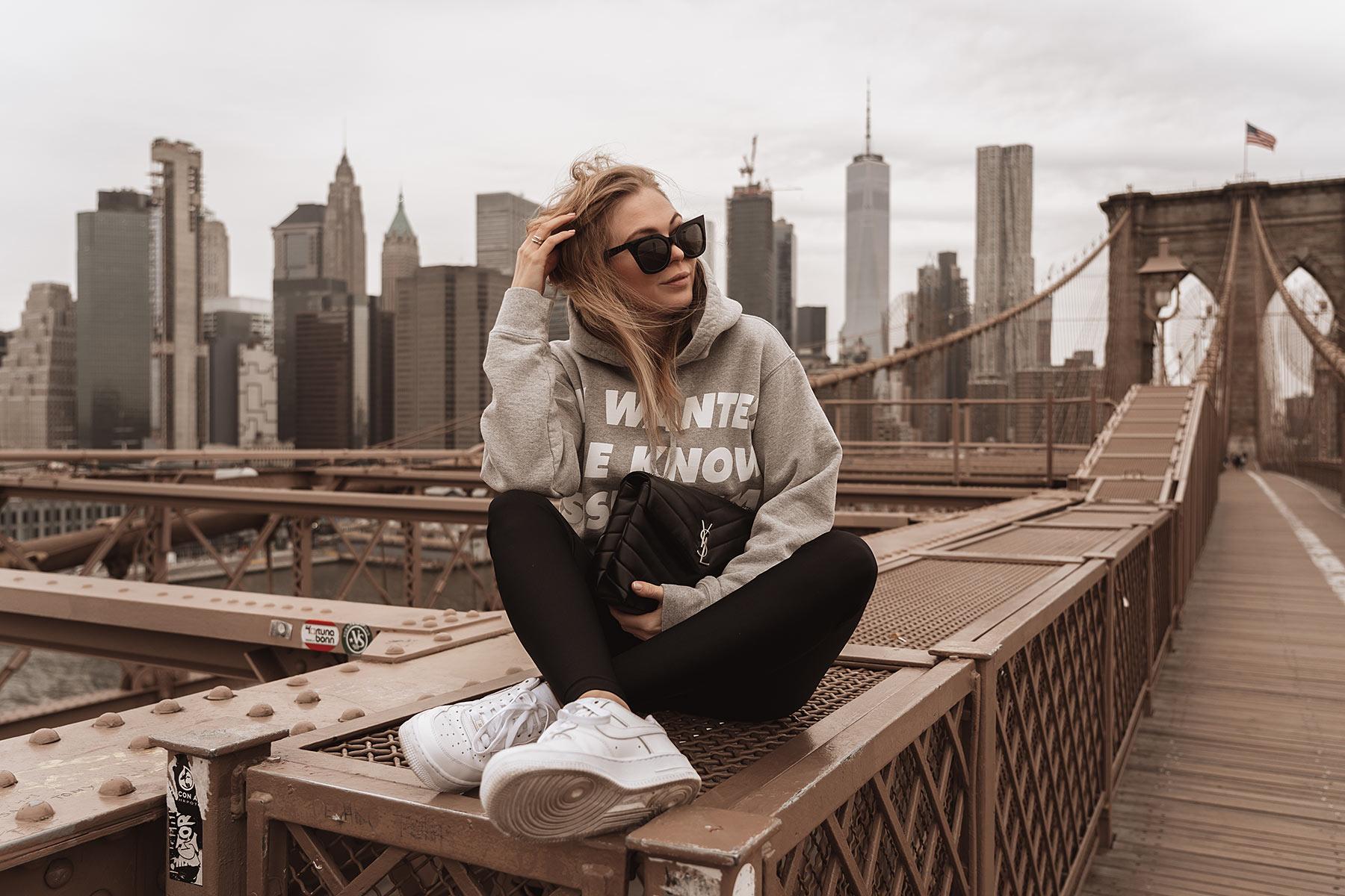 brooklyn bridge new york outfit blog sunnyinga