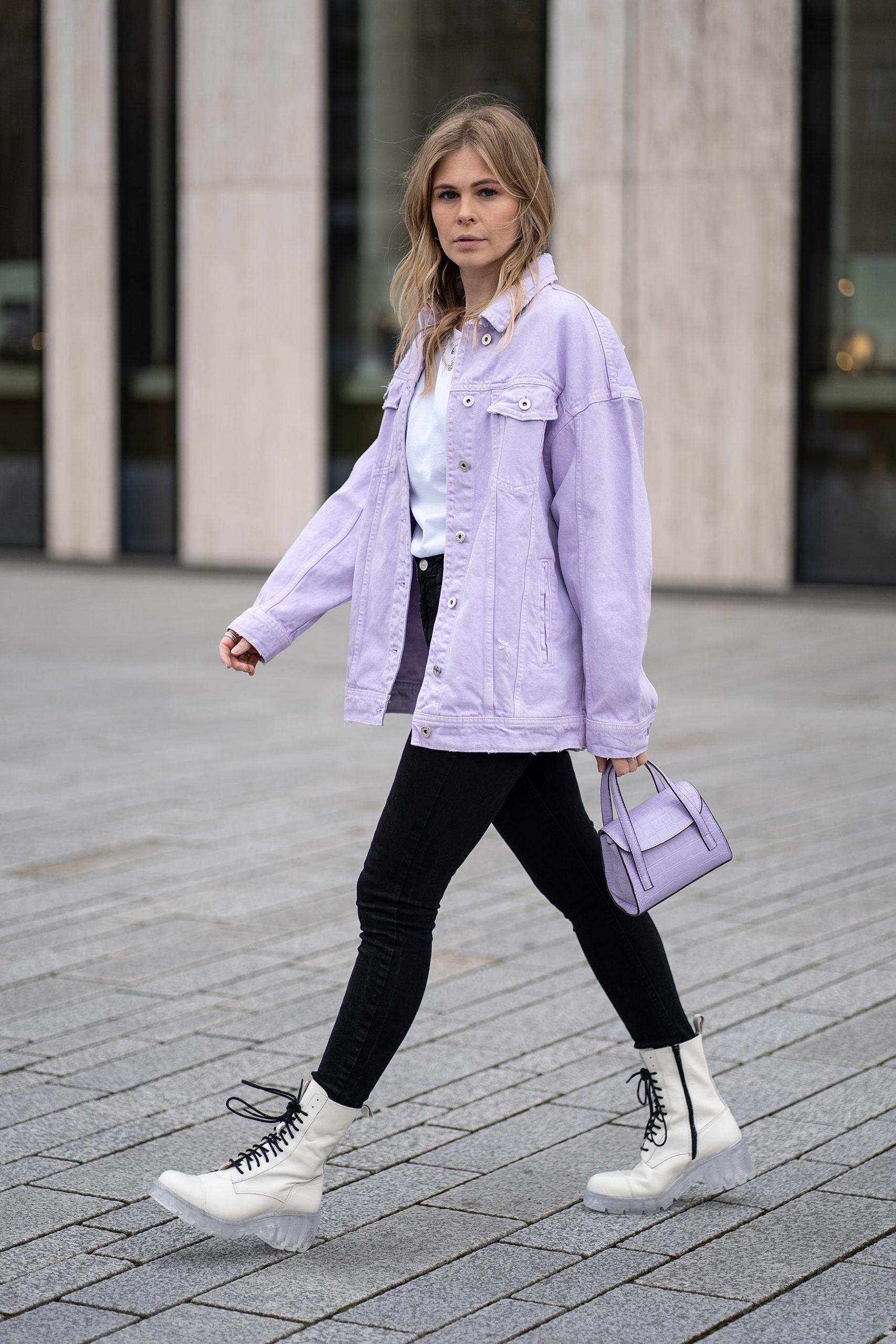 jeansjacke lavendel lila outfit fashion blog sunnyinga