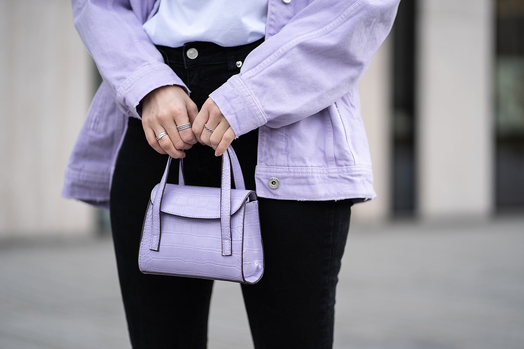 lavendel trend tasche outfit fashion blogger sunnyinga