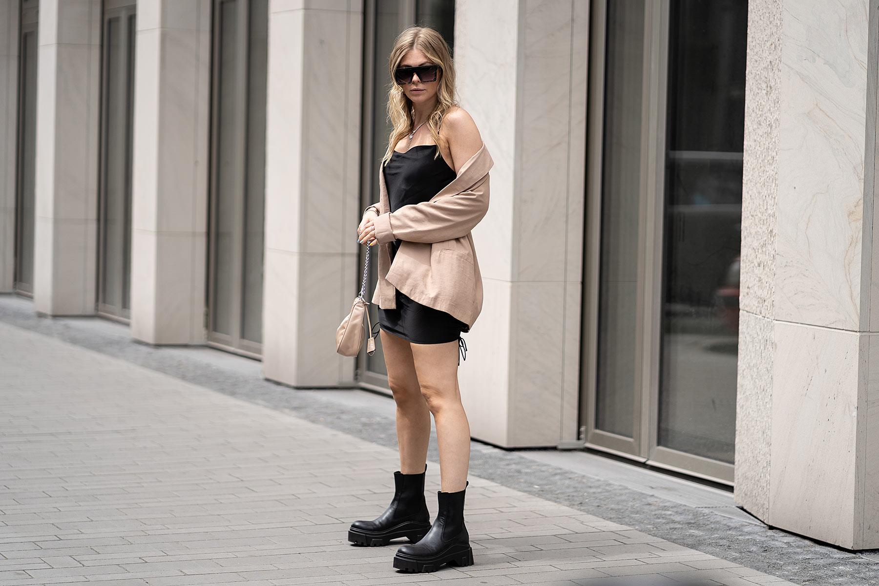 satinkleid outfit fashion blogger ing -brauer düsseldorf sunnyinga