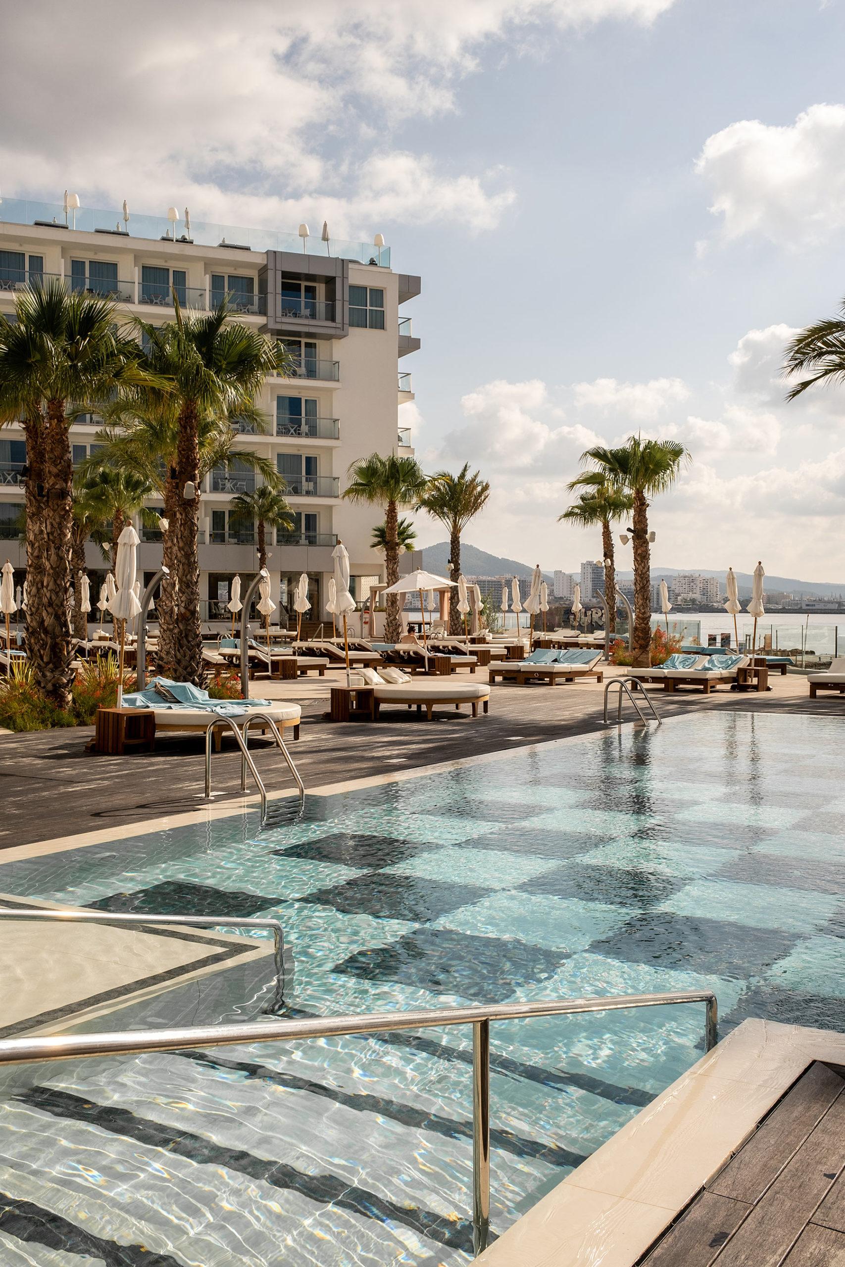 amare beach hotel ibiza pool area travel blog sunnyinga