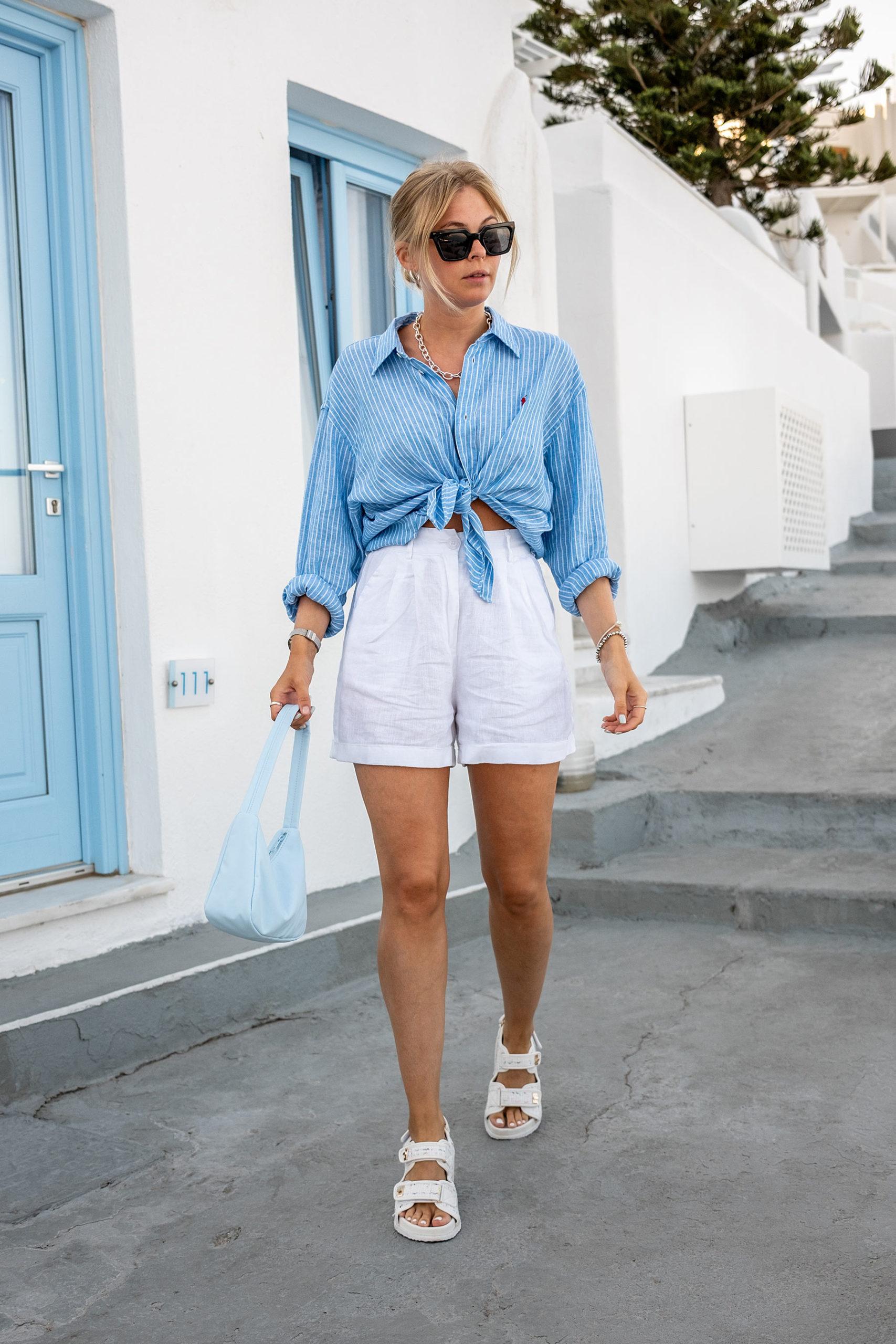santorini outfit travel blogger sunnyinga