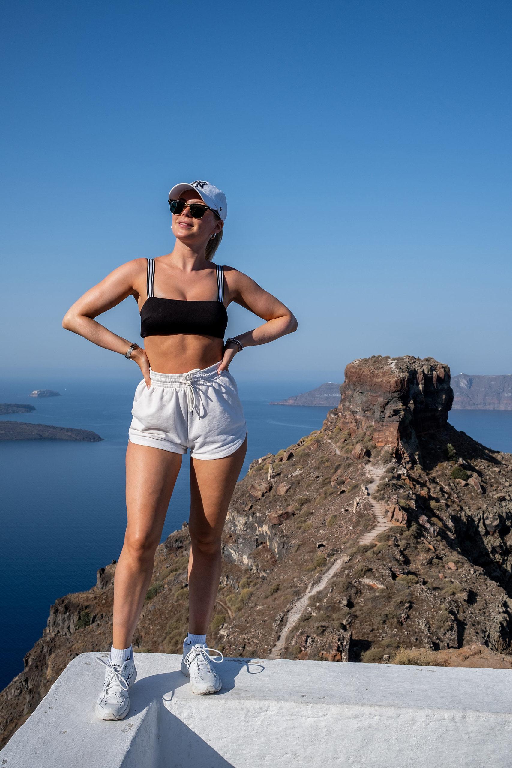 skaros rock hiking santorini travel blogger sunnyinga