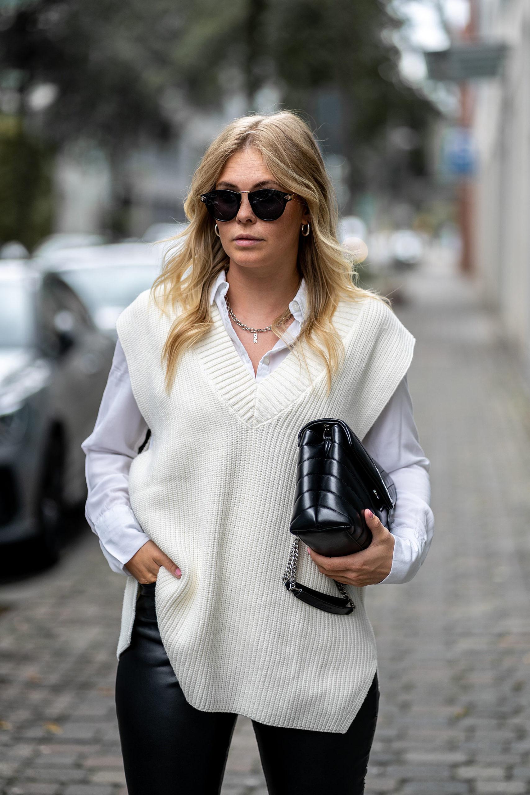 inga brauer outfit strickweste trend fashion blog