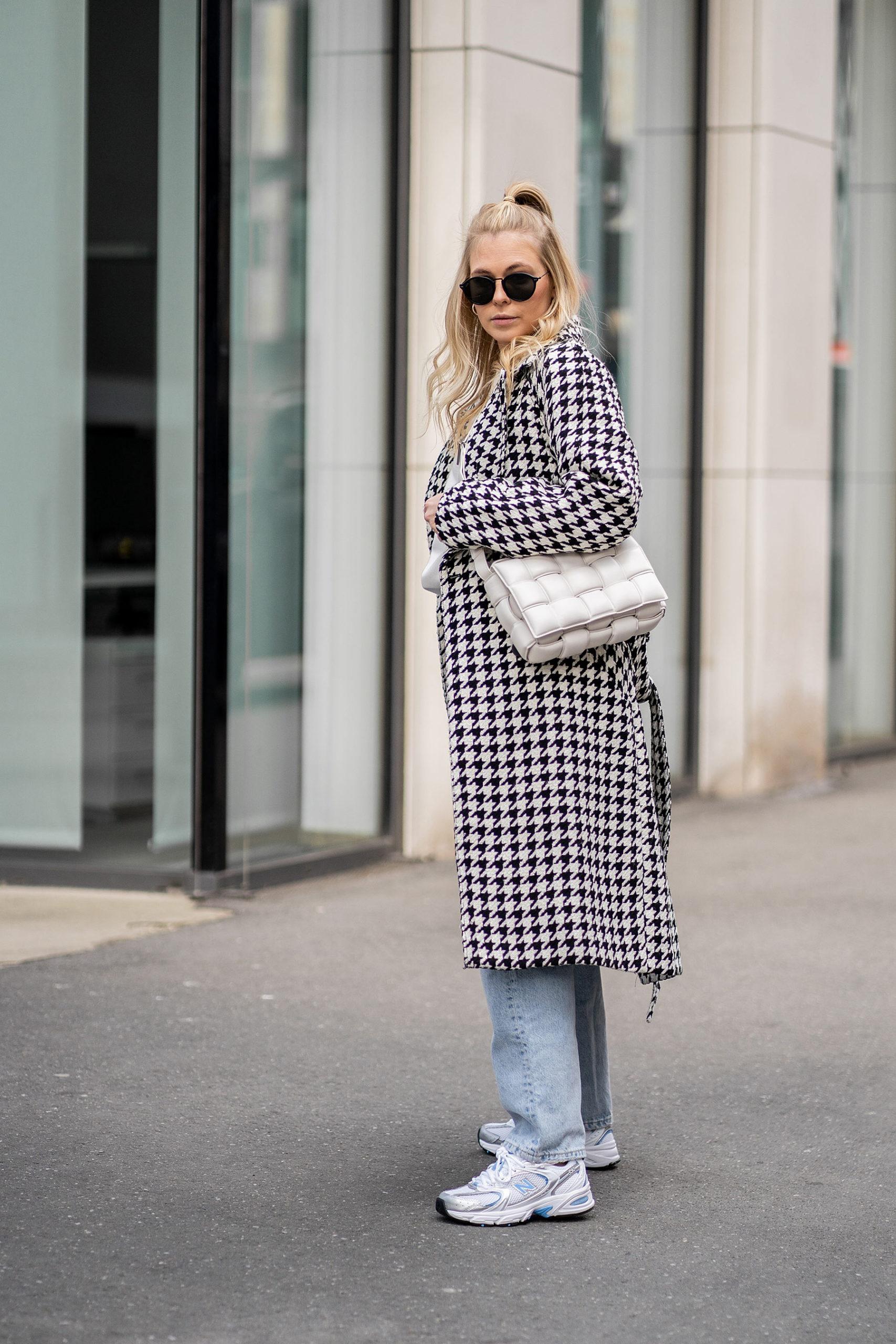 hahnentritt mantel frühlingsoutfit sunnyinga fashion blog