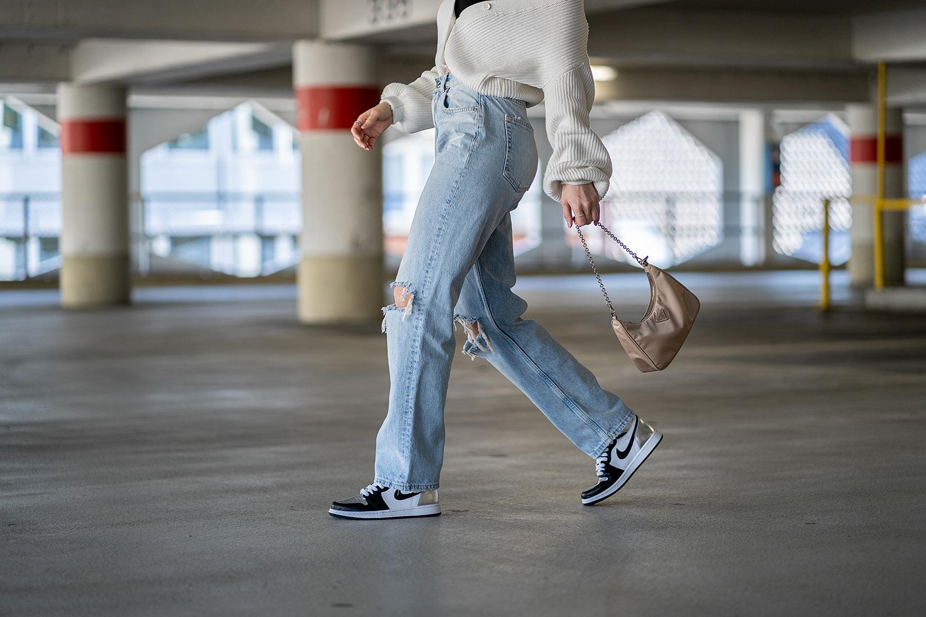 jordan 1 high silver toe hose jeans kombinieren fashion blogger inga brauer