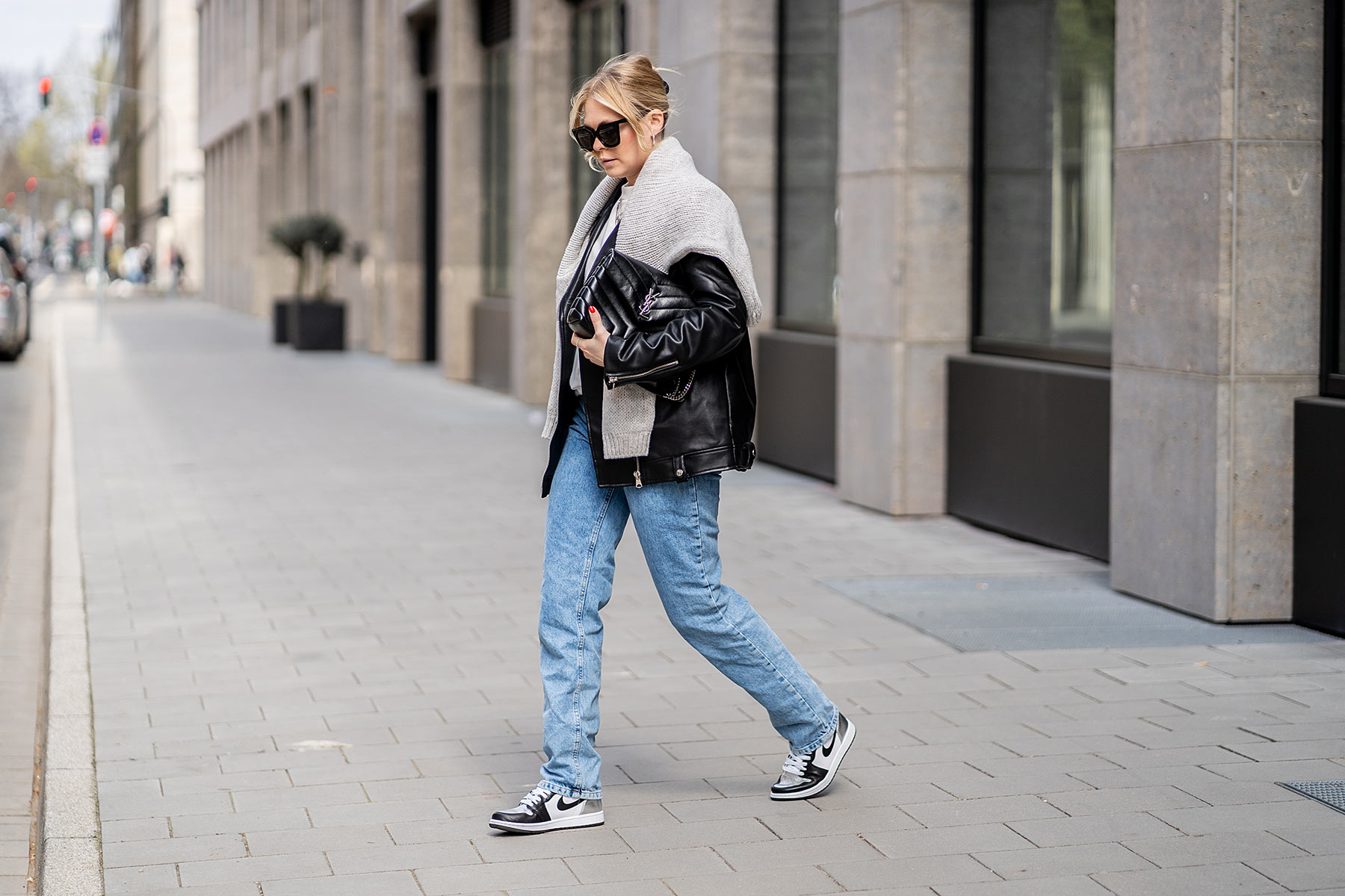 streetstyle düsseldorf fashion blog lederjacke sunnyinga