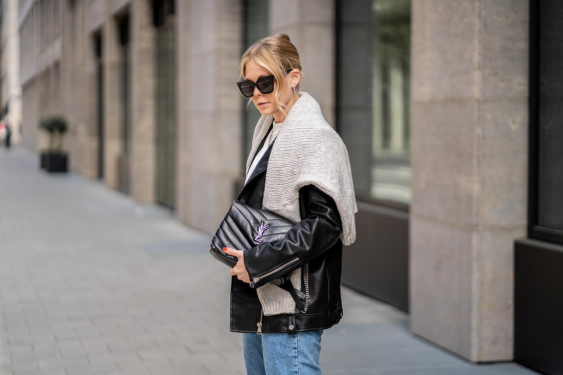 ysl tasche schwarz düsseldorf fashion blogger sunnyinga