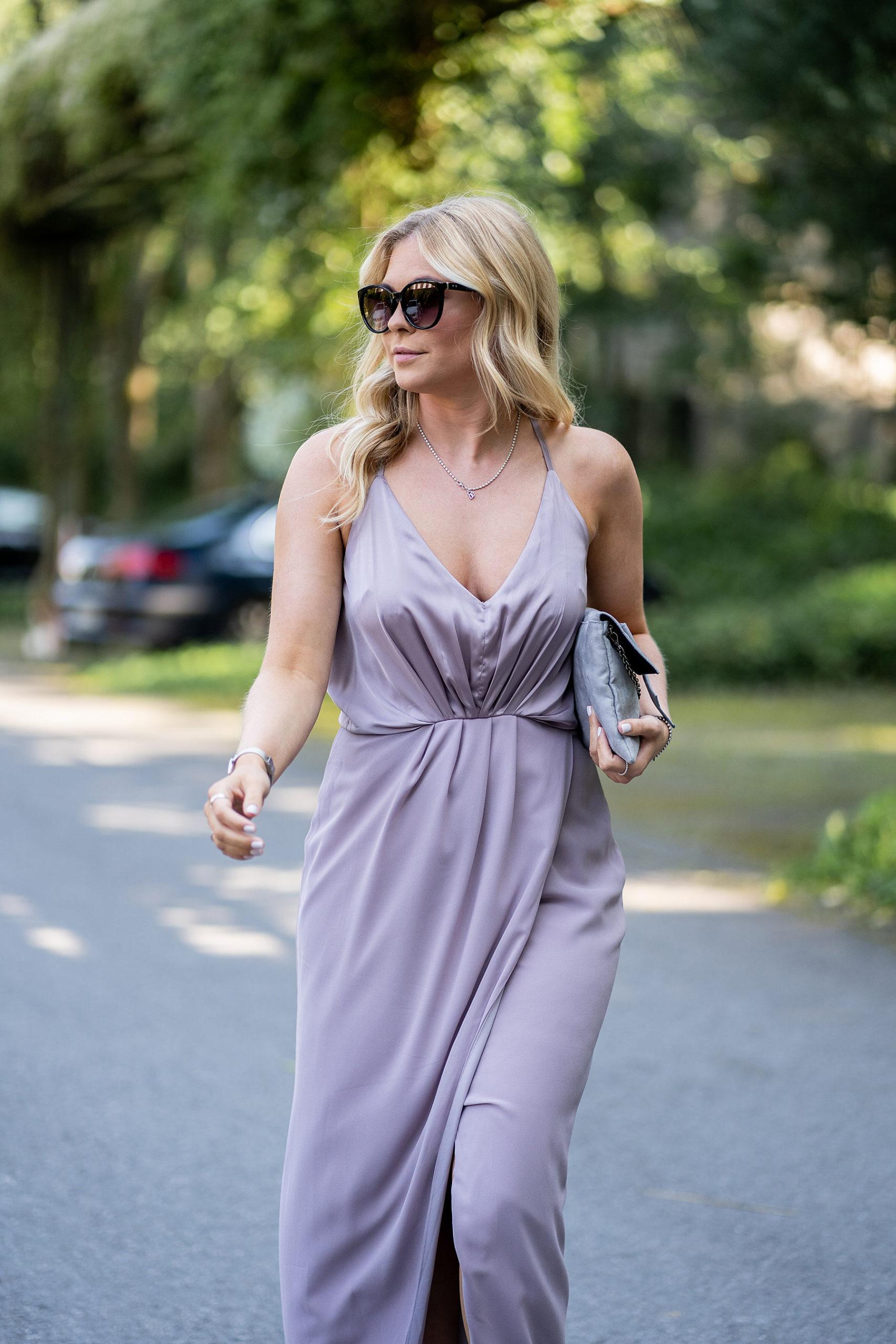 kleid outfit hochzeitsgast sommer frau lila