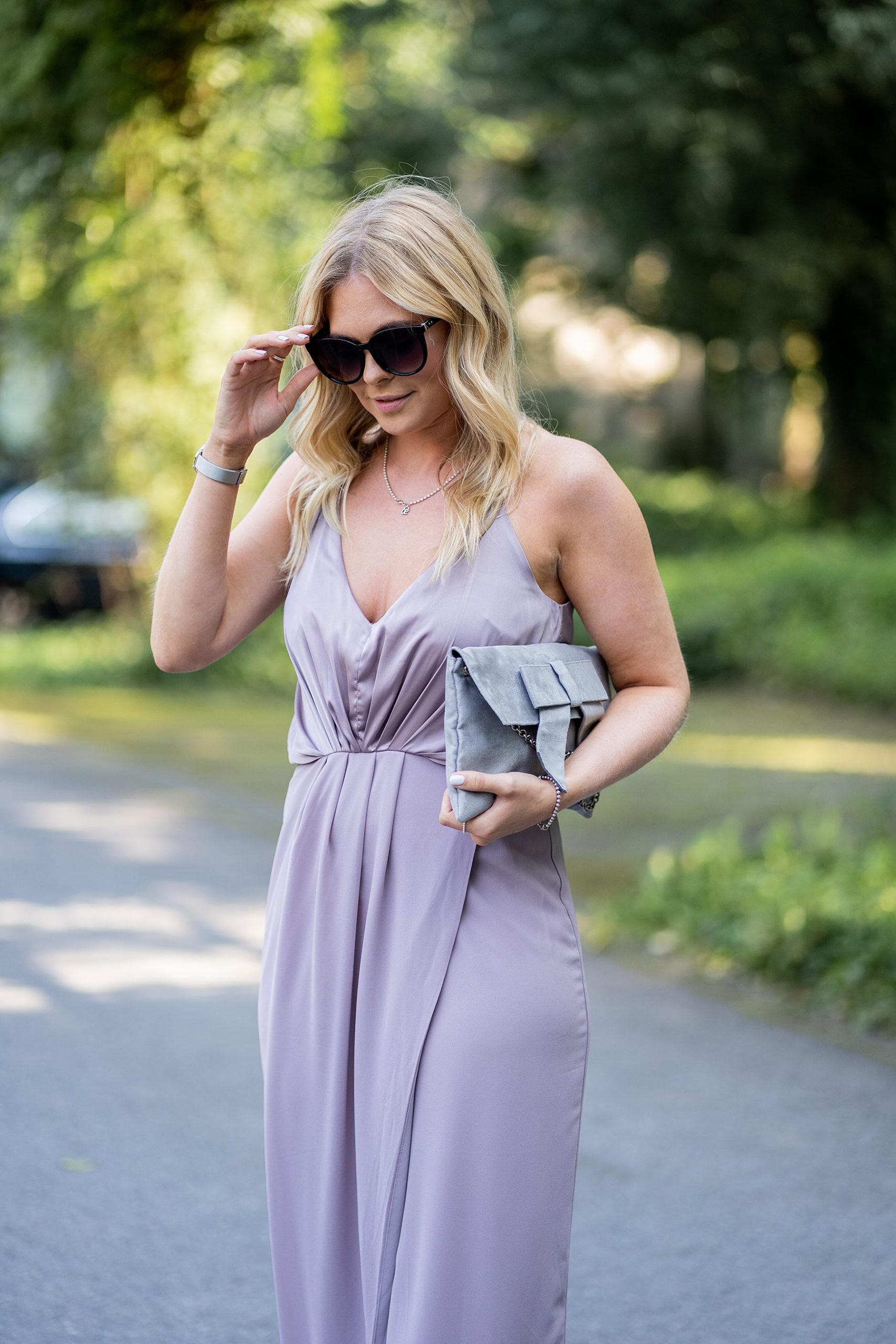 lila kleid outfit hochzeitsgast frau fashion blog sunnyinga