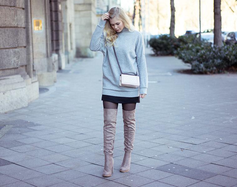 Overknees-Sweatshirt