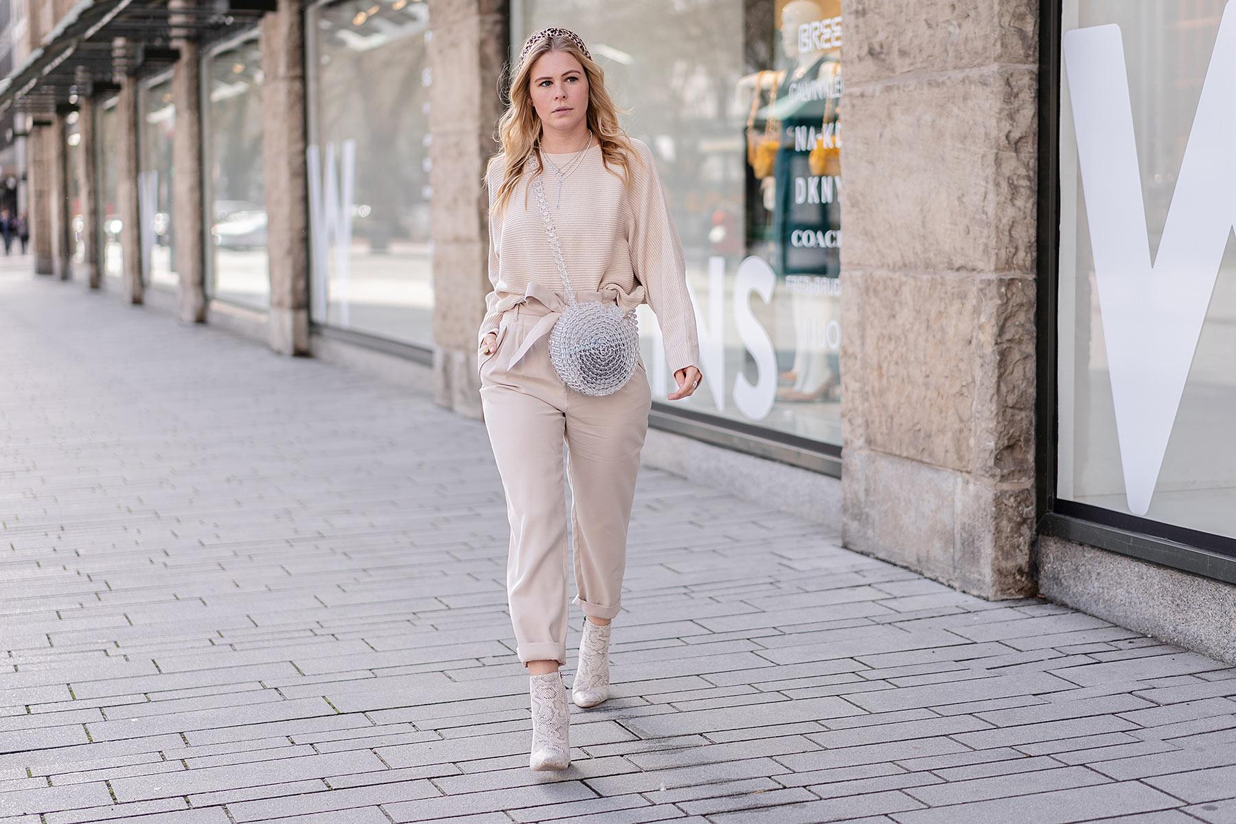 beige trend snake boots leoprint haarreif blogger sunnyinga