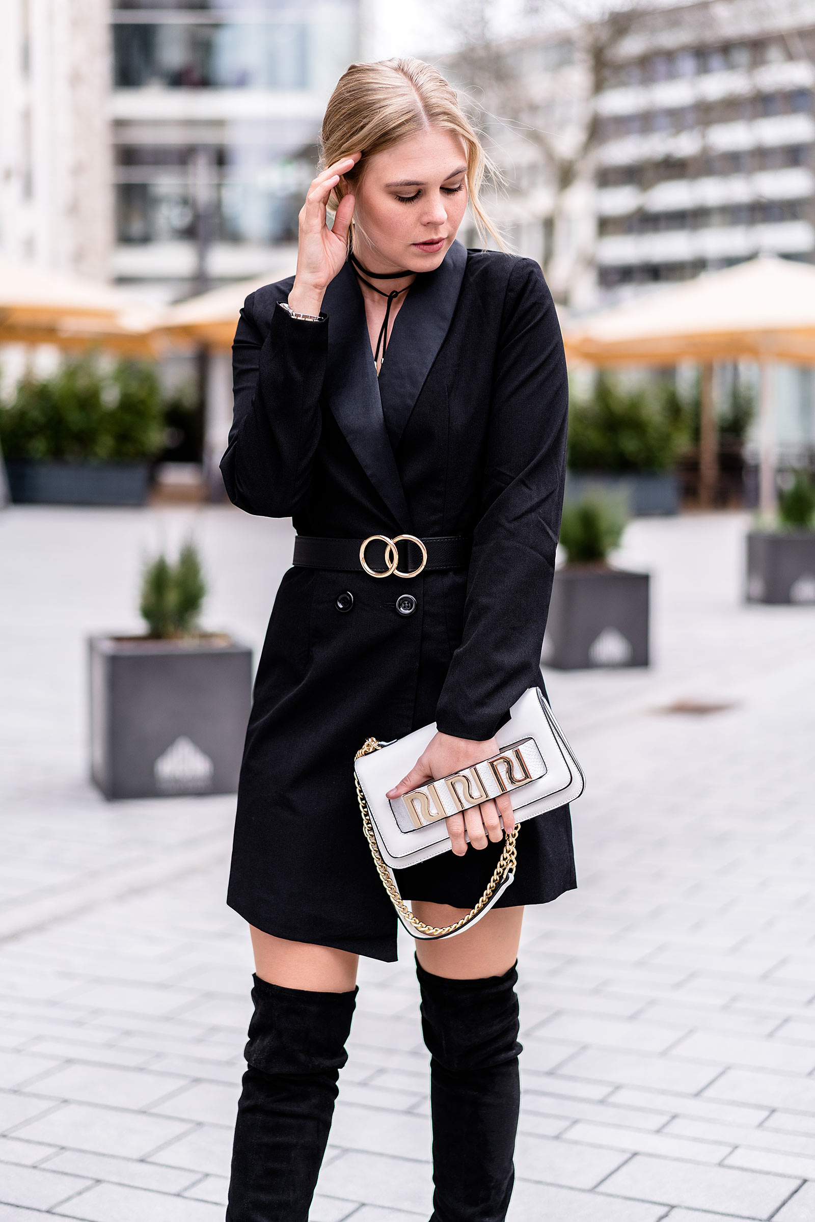 blazer dress black asos fashion blog sunnyinga germany