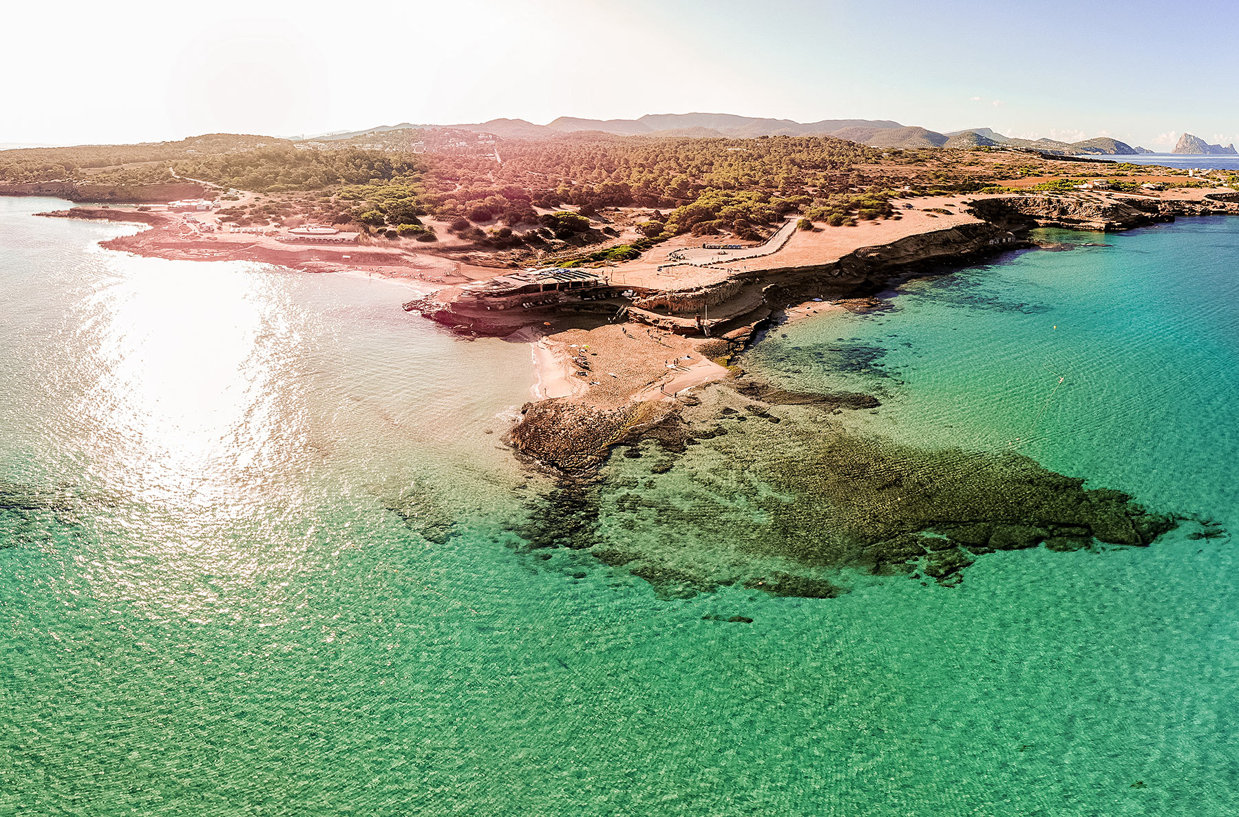 cala comte ibiza morning drone blogger sunnyinga