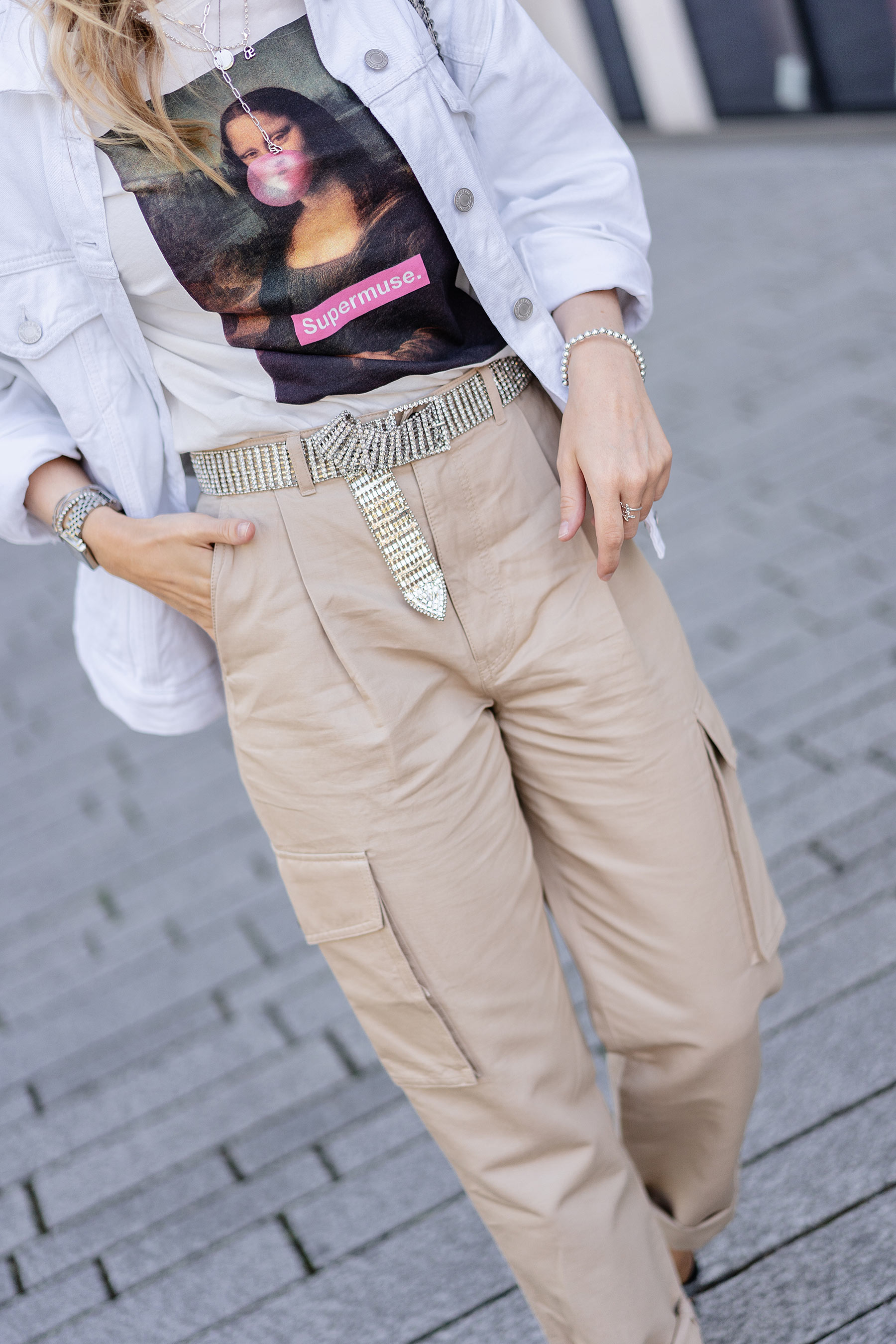 cargo pants beige frauen andotherstories sunnyinga