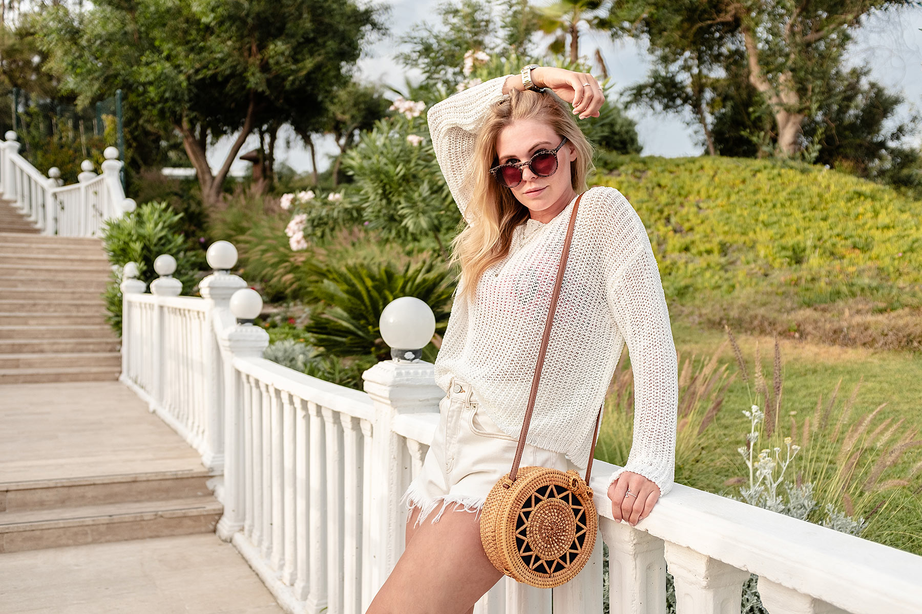 chiquelle pullover weiss sommer look modeblog sunnyinga