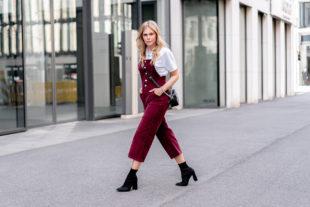 cord latzhose outfit tipps fashion blogger sunnyinga