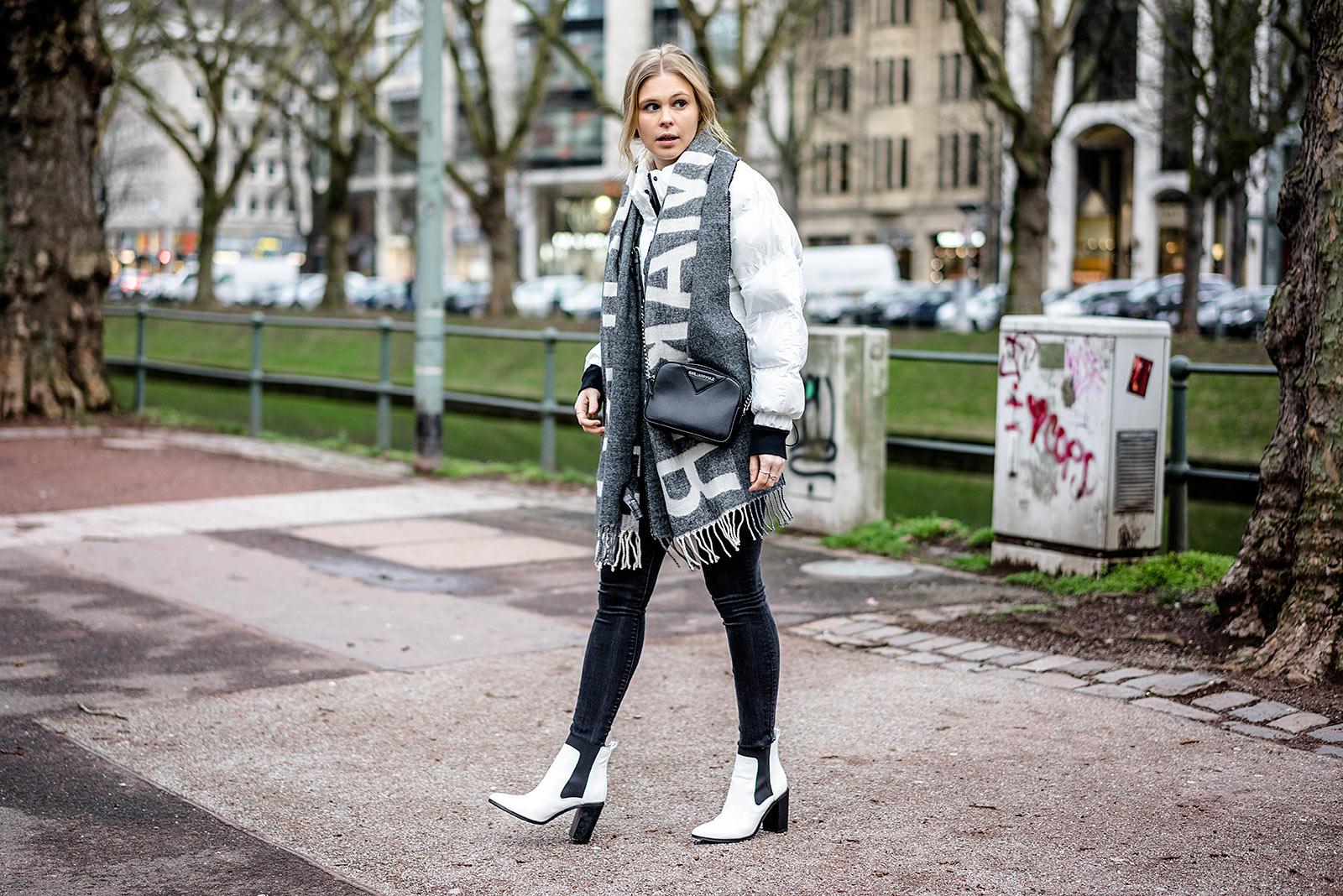 Daunenjacke weiss Outfit Sunnyinga Fashion Blogger Düsseldorf