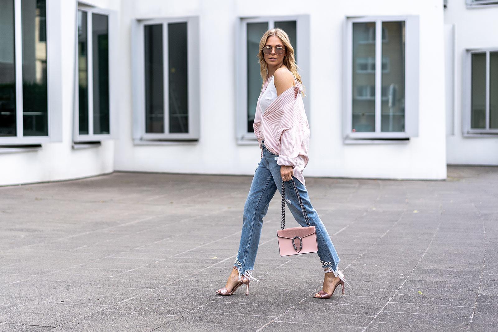 fashion blogger streetstyle outfit oversize hemdbluse sunnyinga