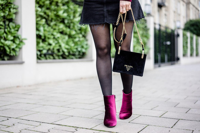 Fashionette Prada Velvet Shoulder Bag Nero Handtasche Fashion Blogger Düsseldorf Sunnyinga