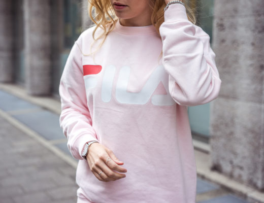 Fila Sweater Rosa Brand Revival Sunnyinga Fashionblog Düsseldorf