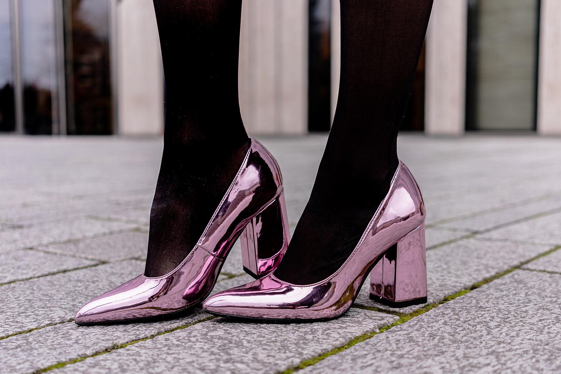 high heels metallic rosa sacha schuhe fashion blogger sunnyinga