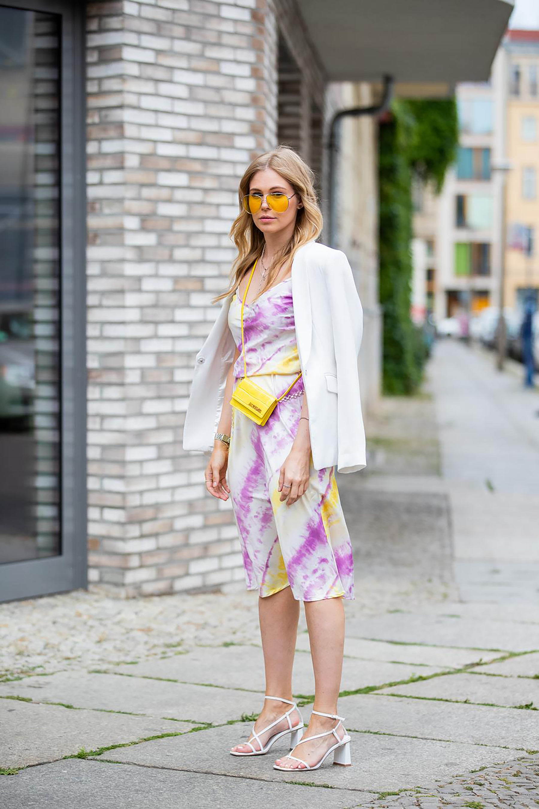 inga brauer satinkleid fashion blogger outfit berlin streetstyle