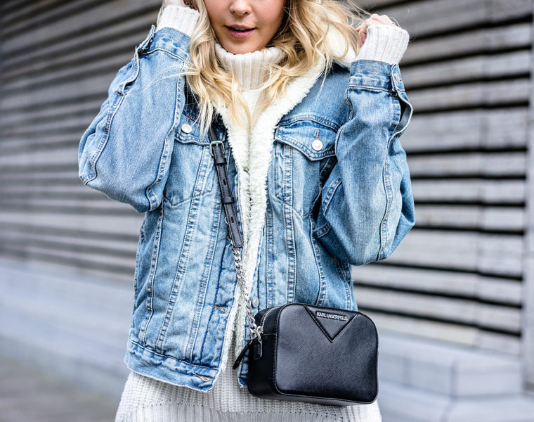 Jeansjacke mit Fell Outfit Fashion Blogger Sunnyinga