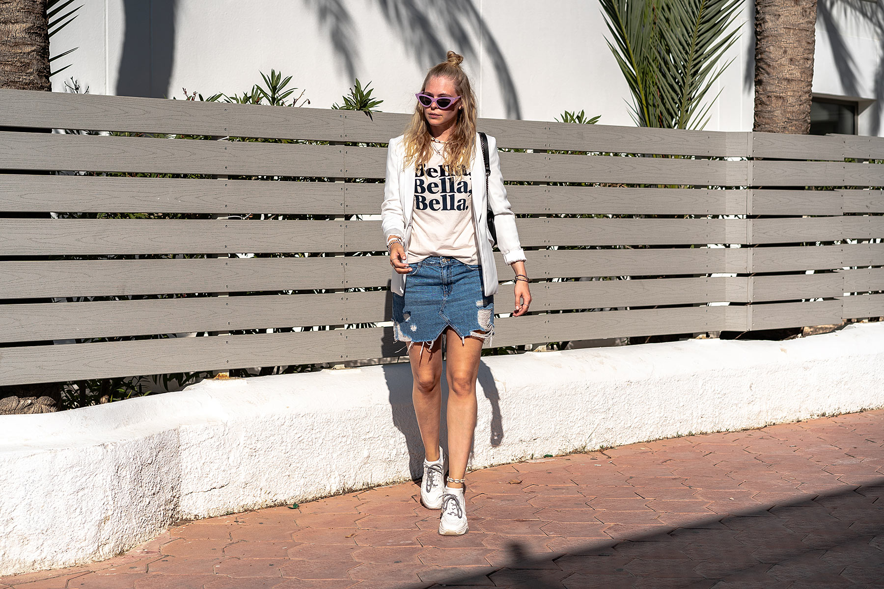 jeansrock blazer outfit ibiza sunnyinga modeblog