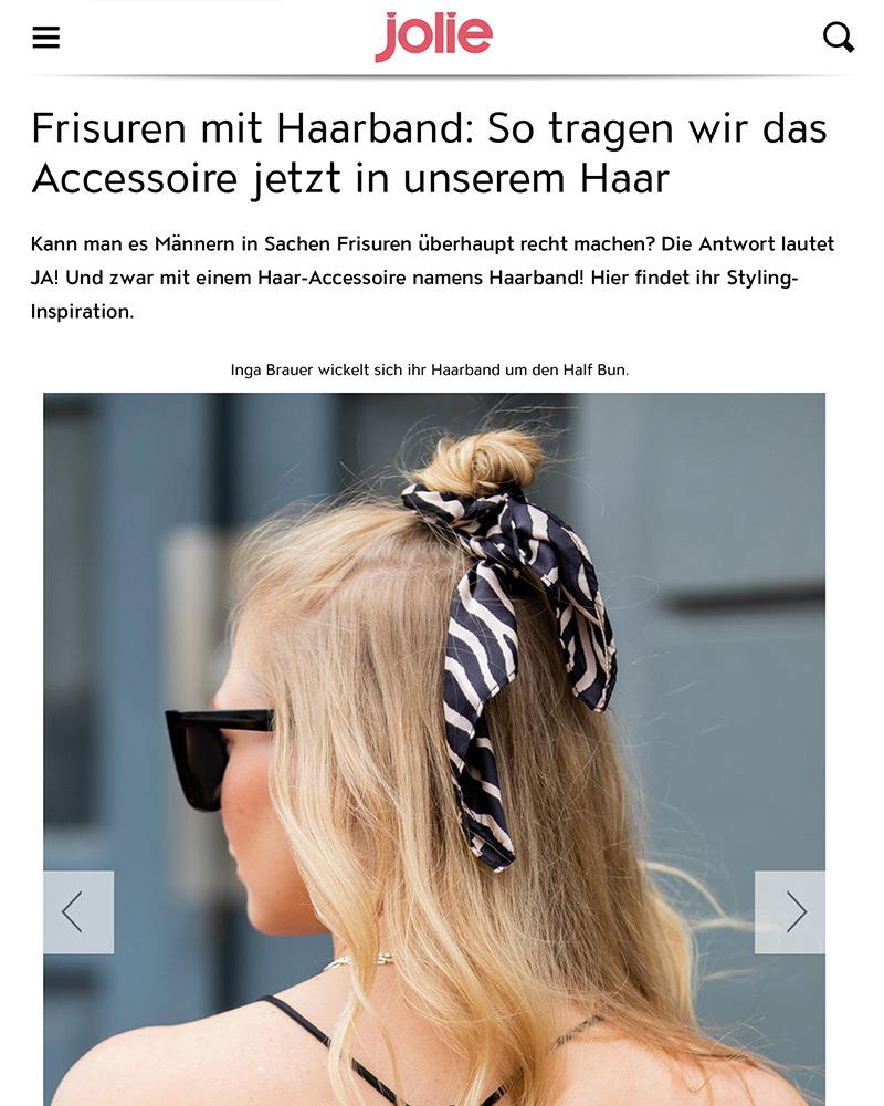 jolie frisuren mit haarband fashion blogger inga brauer sunnyinga