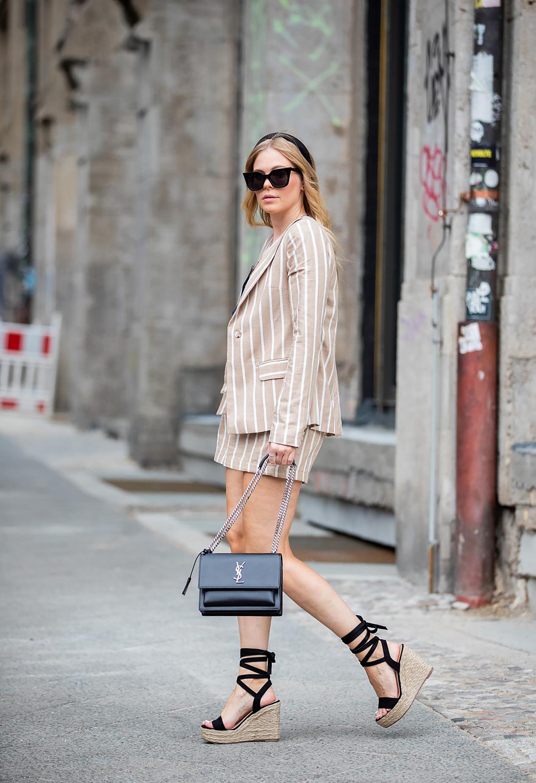 keilsandaletten bast absatz schwarz outfit fashion blogger sunnyinga