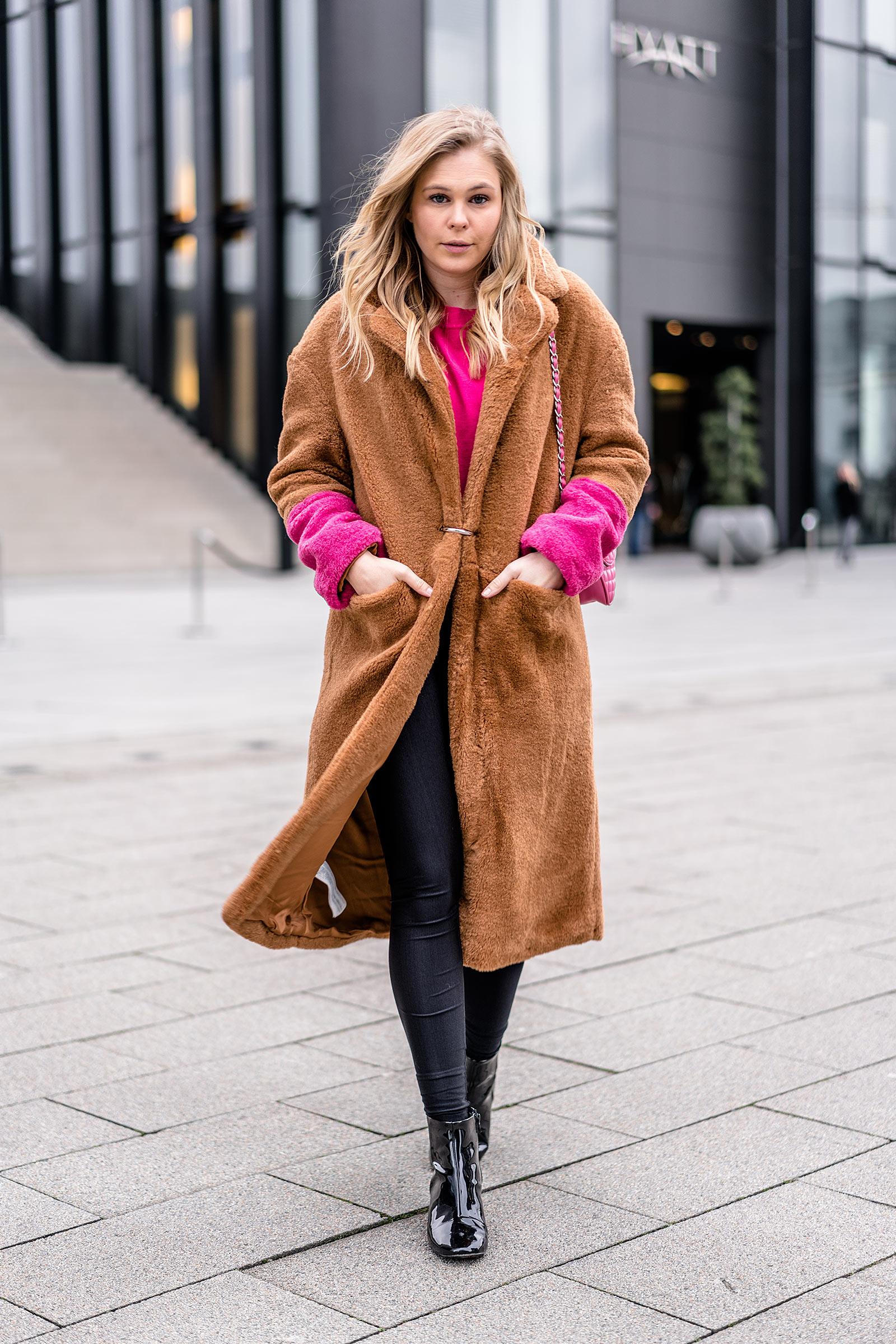 Mango Kunstfell Mantel pink Fashion Blogger Sunnyinga