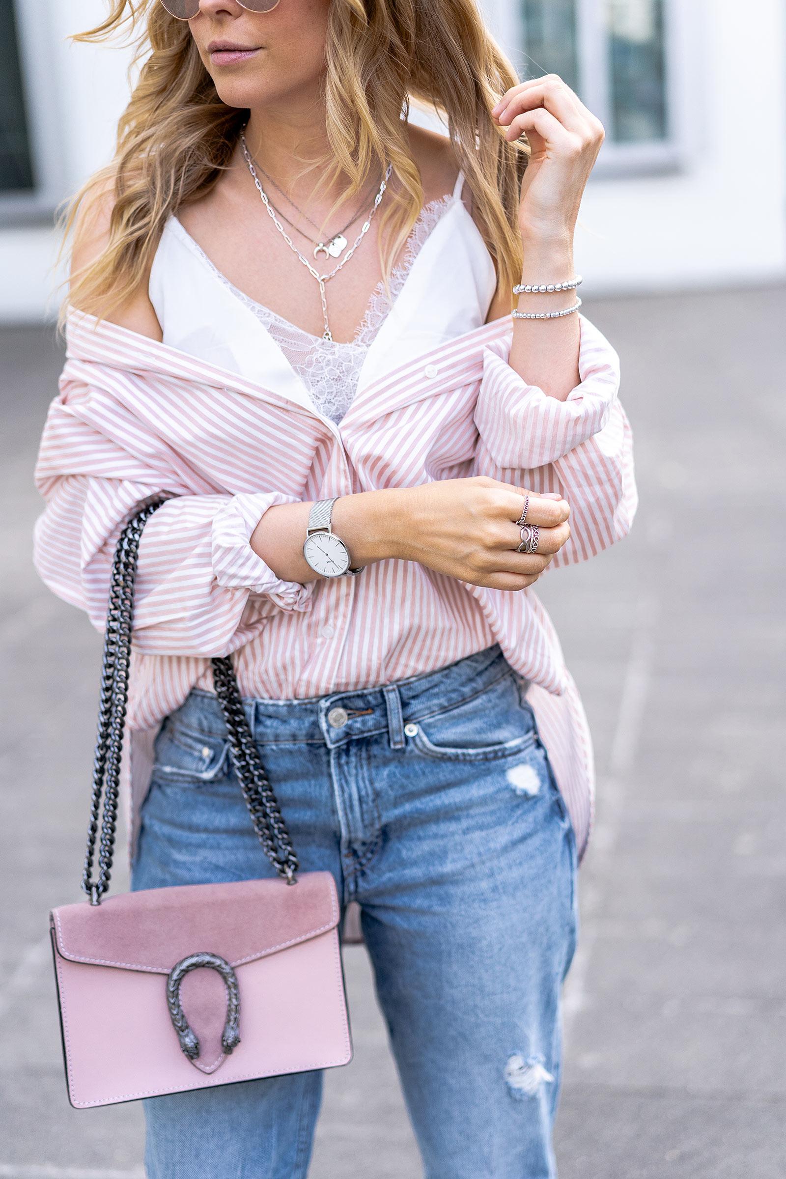 obersize hemdbluse h&m outfit modeblogsunnyinga