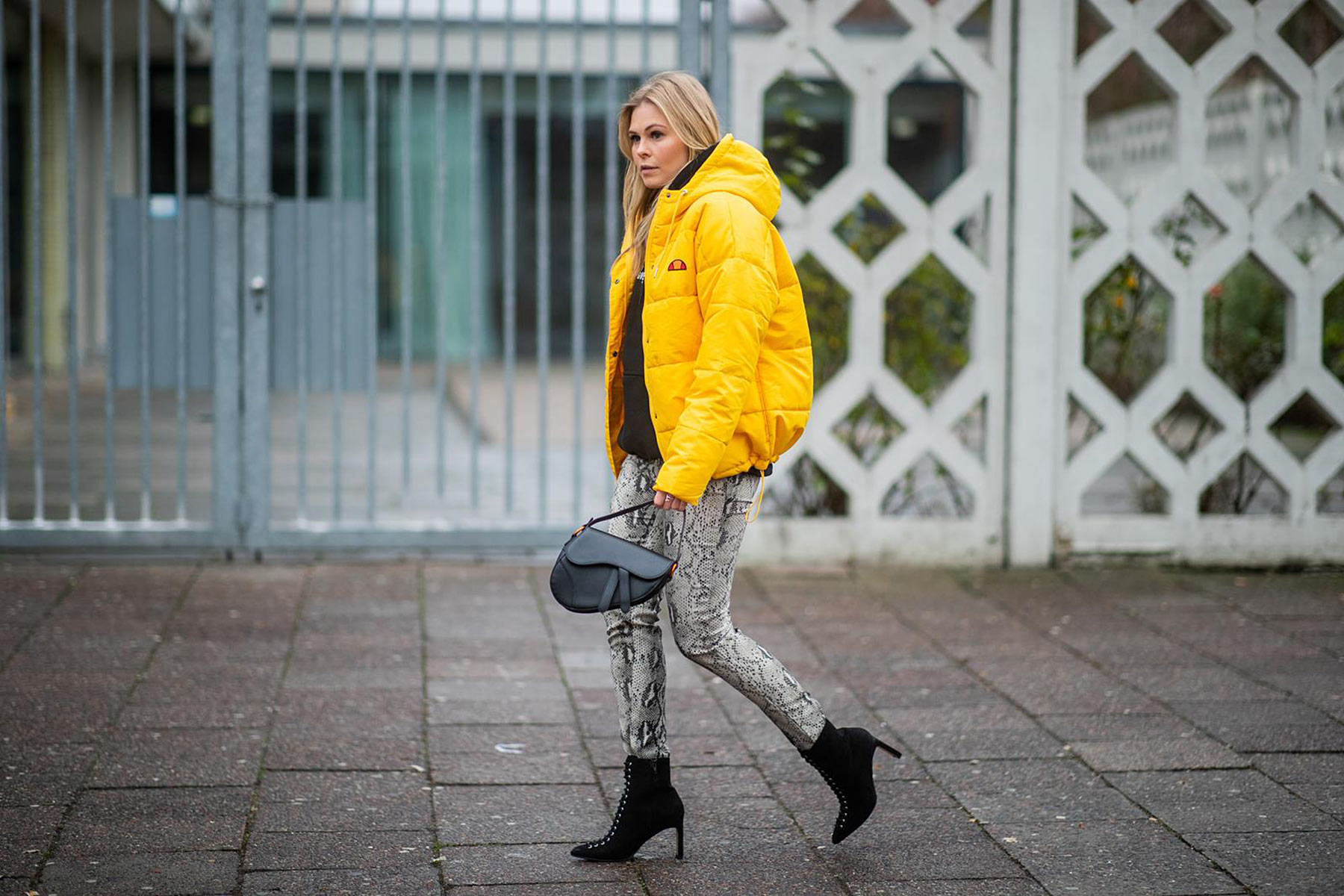 outfit hose mit schlangenmuster trend 2019 fashion blogger sunnyinga