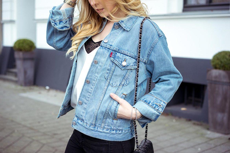 Oversize Jeansjacke Levis Fashion Blog Sunnyinga