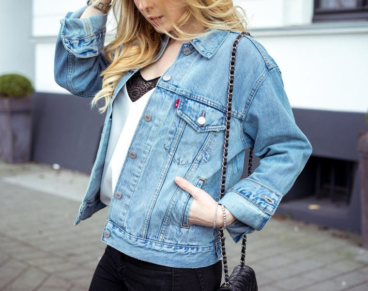 Oversize Jeansjacke Levis Fashion Blog Sunnyinga