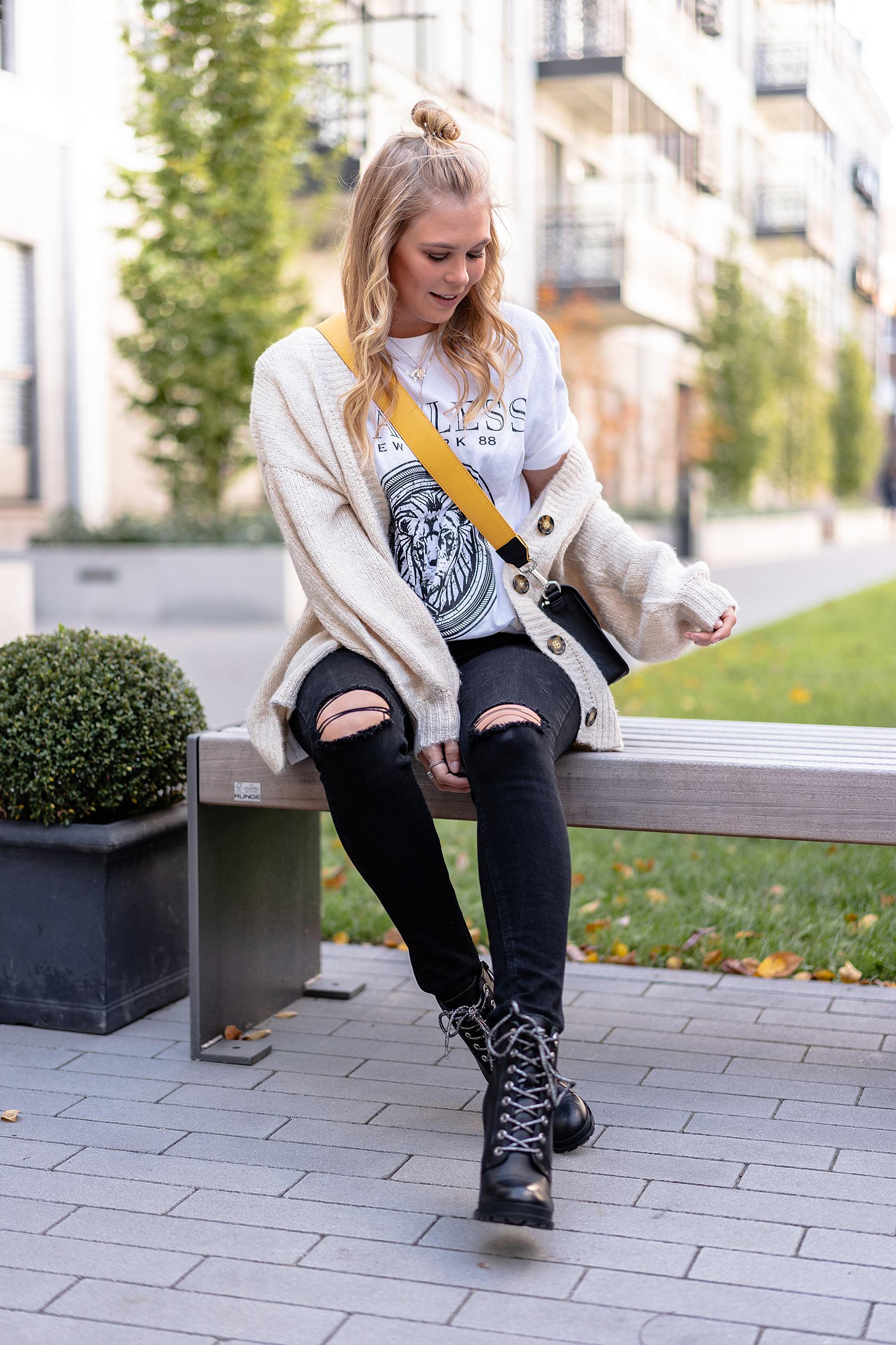 oversized cardigan kombinieren modeblog blogger sunnyinga