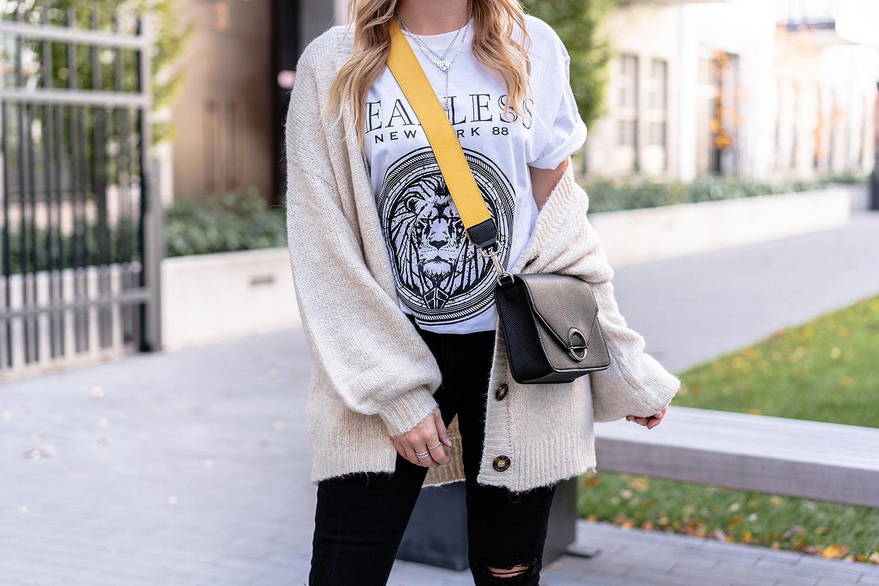 oversized cardigan kombinieren skinny jeans modeblog sunnyinga