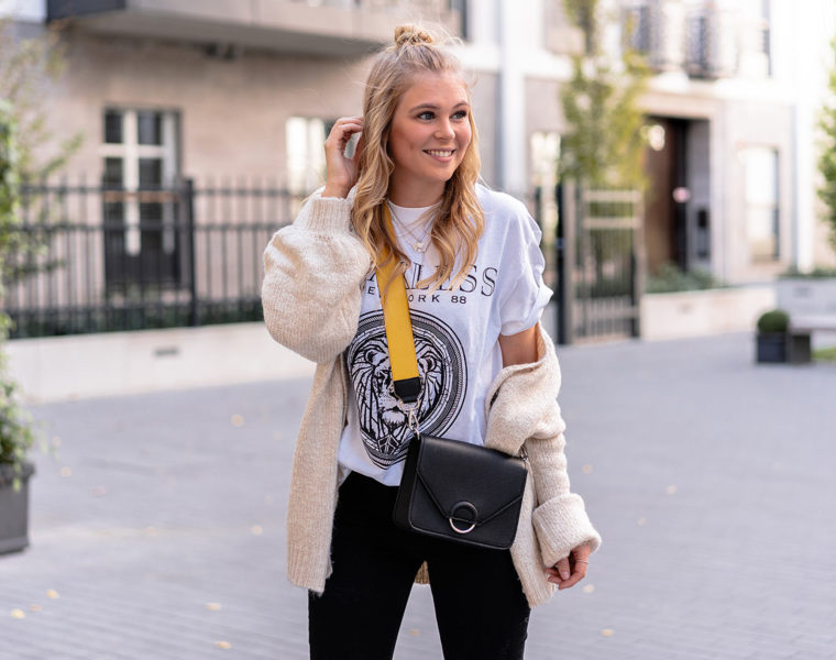 oversized cardigan outfit fashion blogger düsseldorf sunnyinga