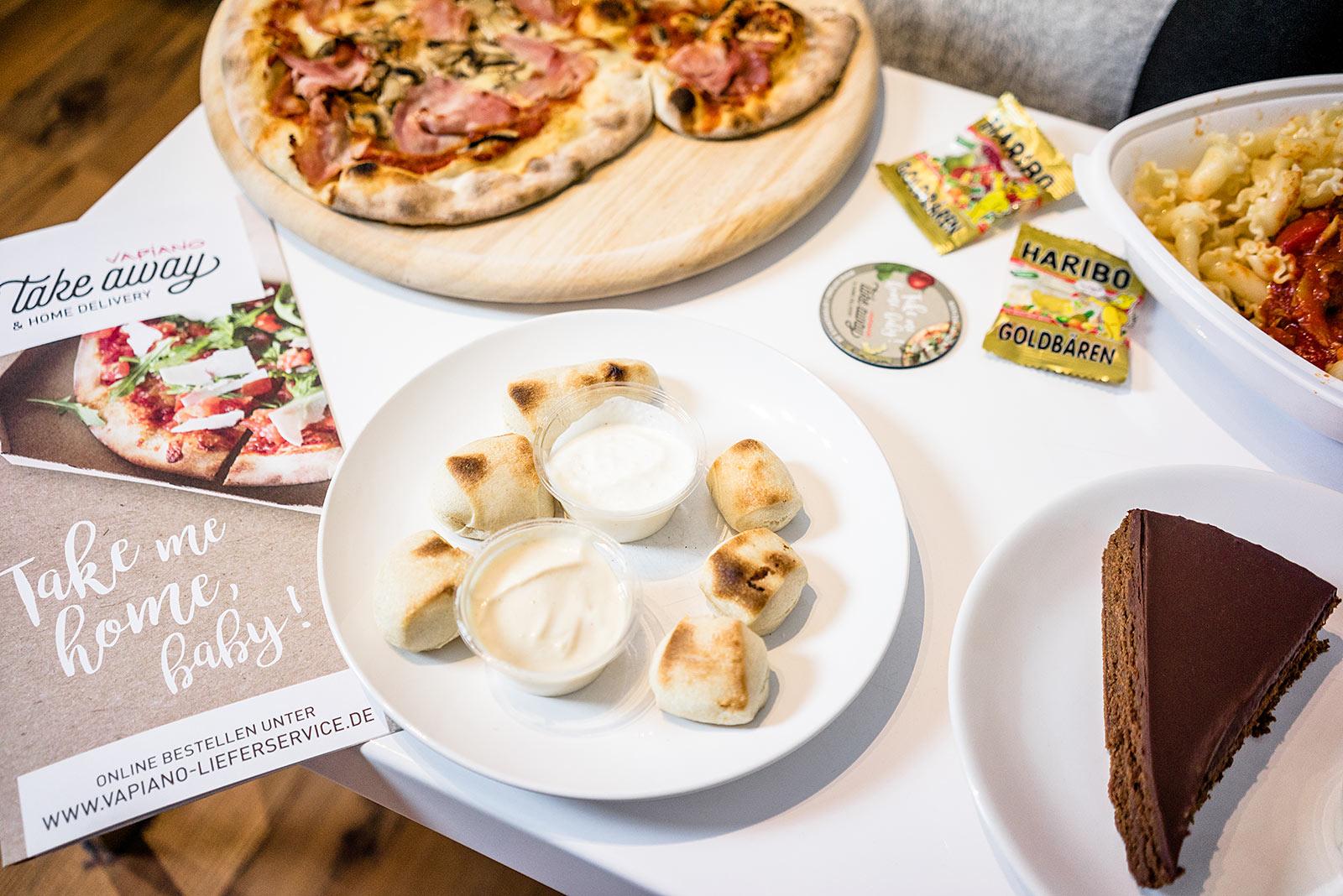 Pizzabrötchen Vapiano Lieferservice Düsseldorf