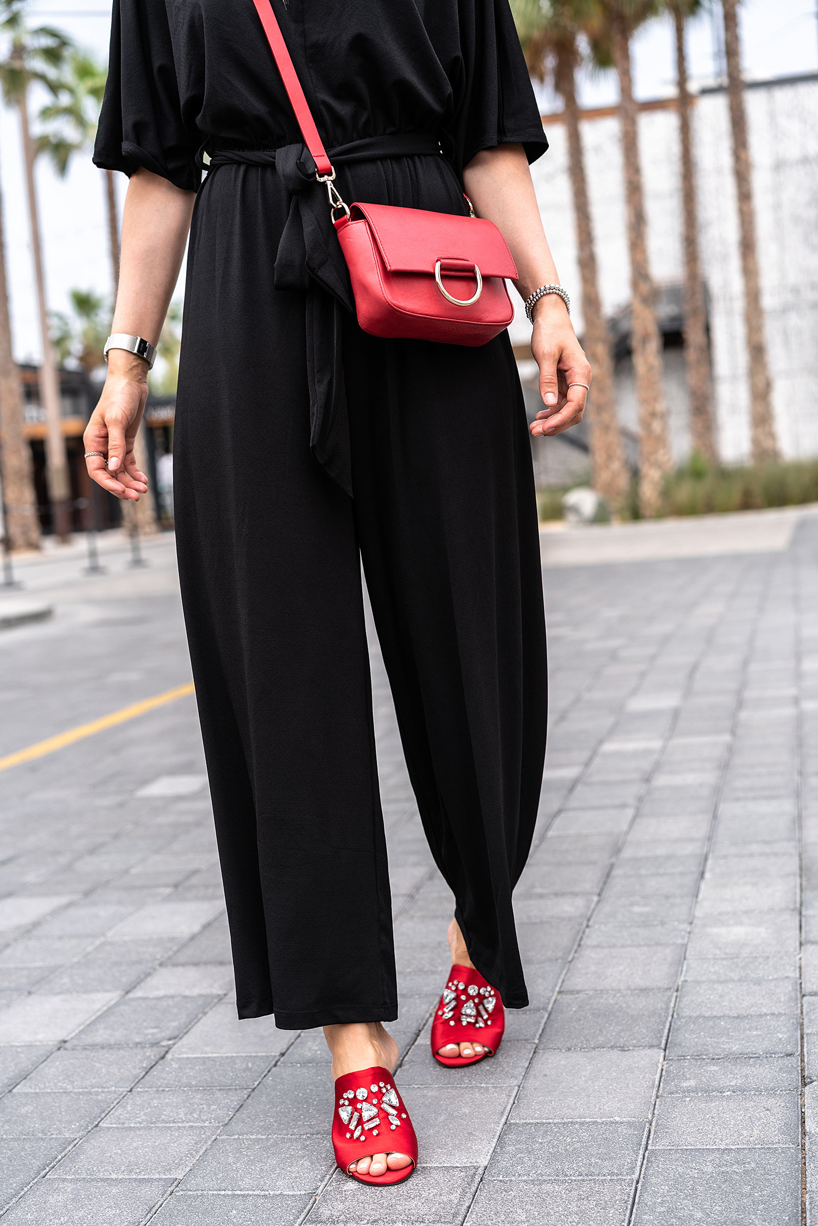 rote mules rote tasche outfit mode blogger sunnyinga
